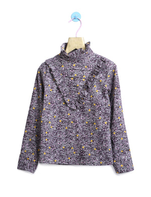 All Over Printed Top in Purple Colour for Girls