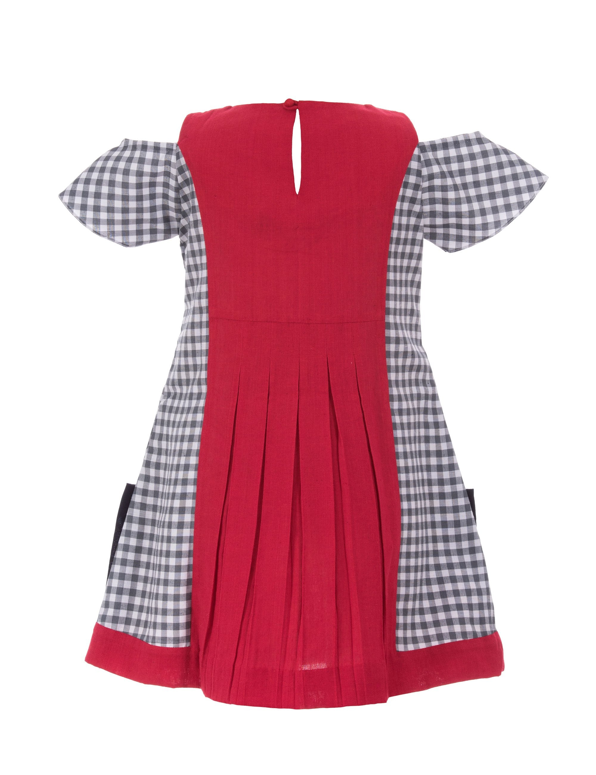 Cattitude Dress in Red for Girls