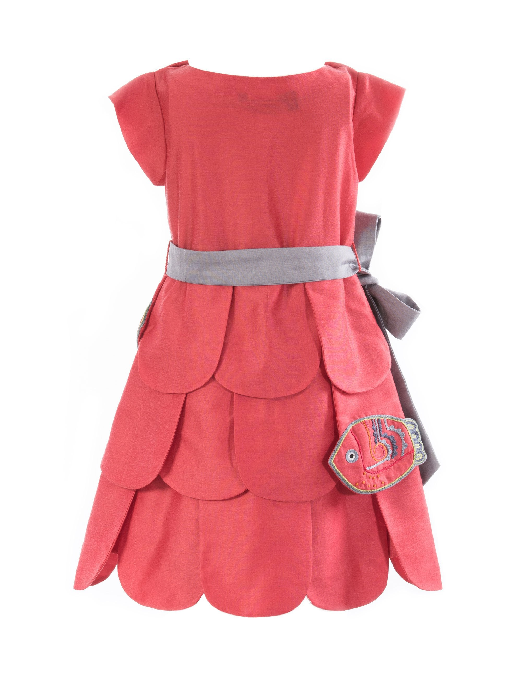 Save Our Seas Tiered Dress in Pink for Girls