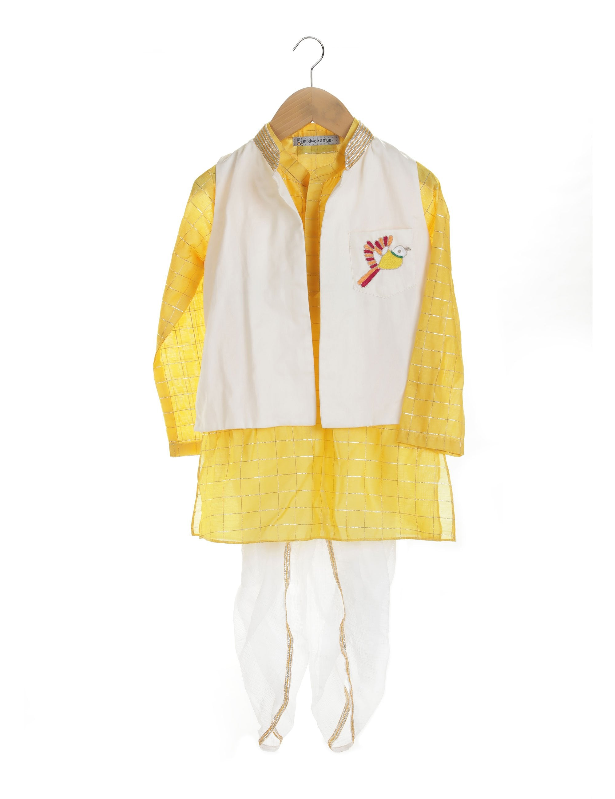 Kurta with Embroidered Nehru Jacket