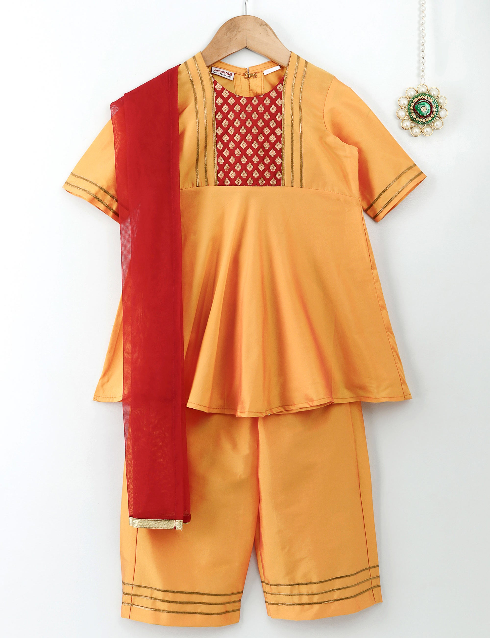 Kurti with Sharara and Dupatta