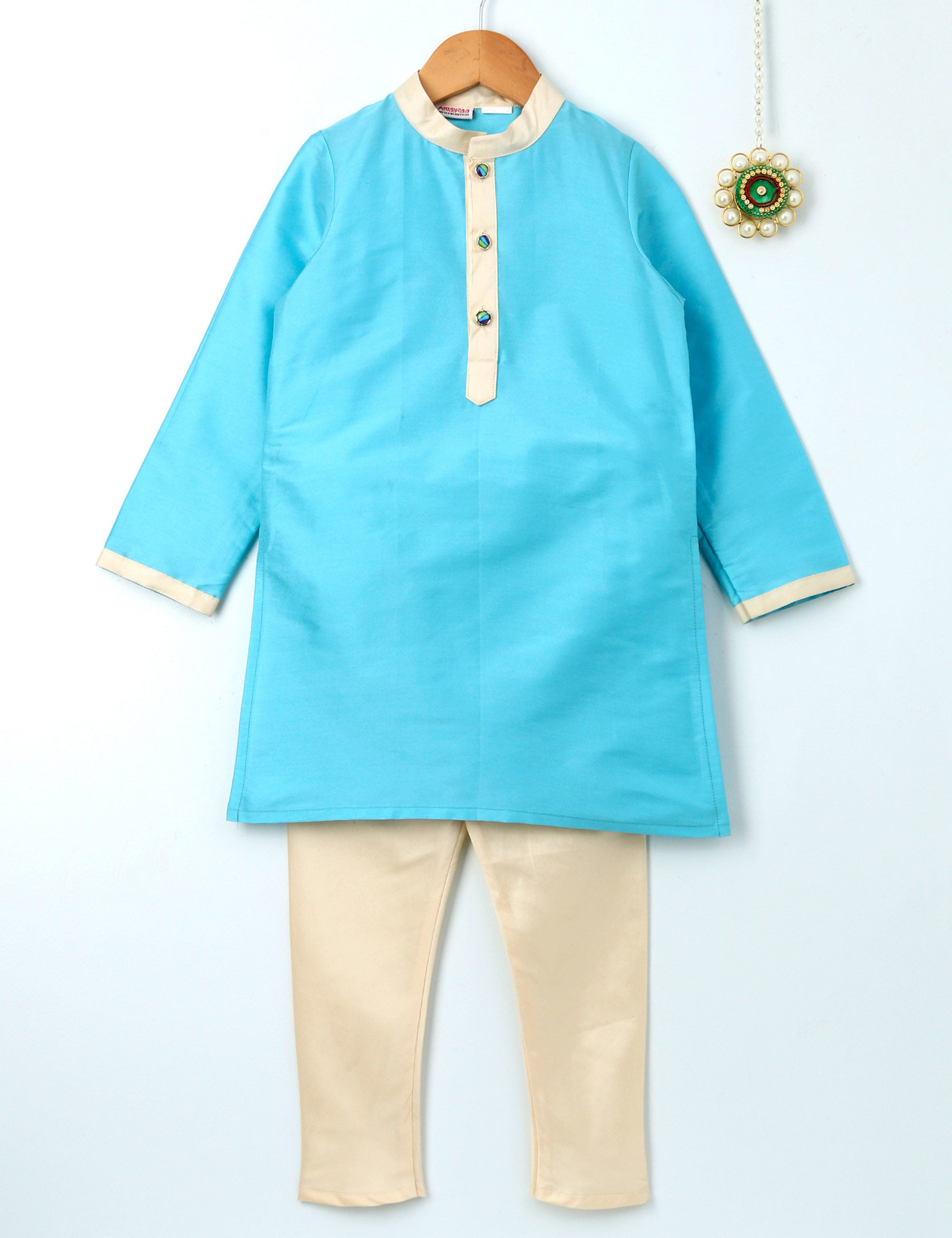 Kurta Pyjama Set in Blue Colour for Boys