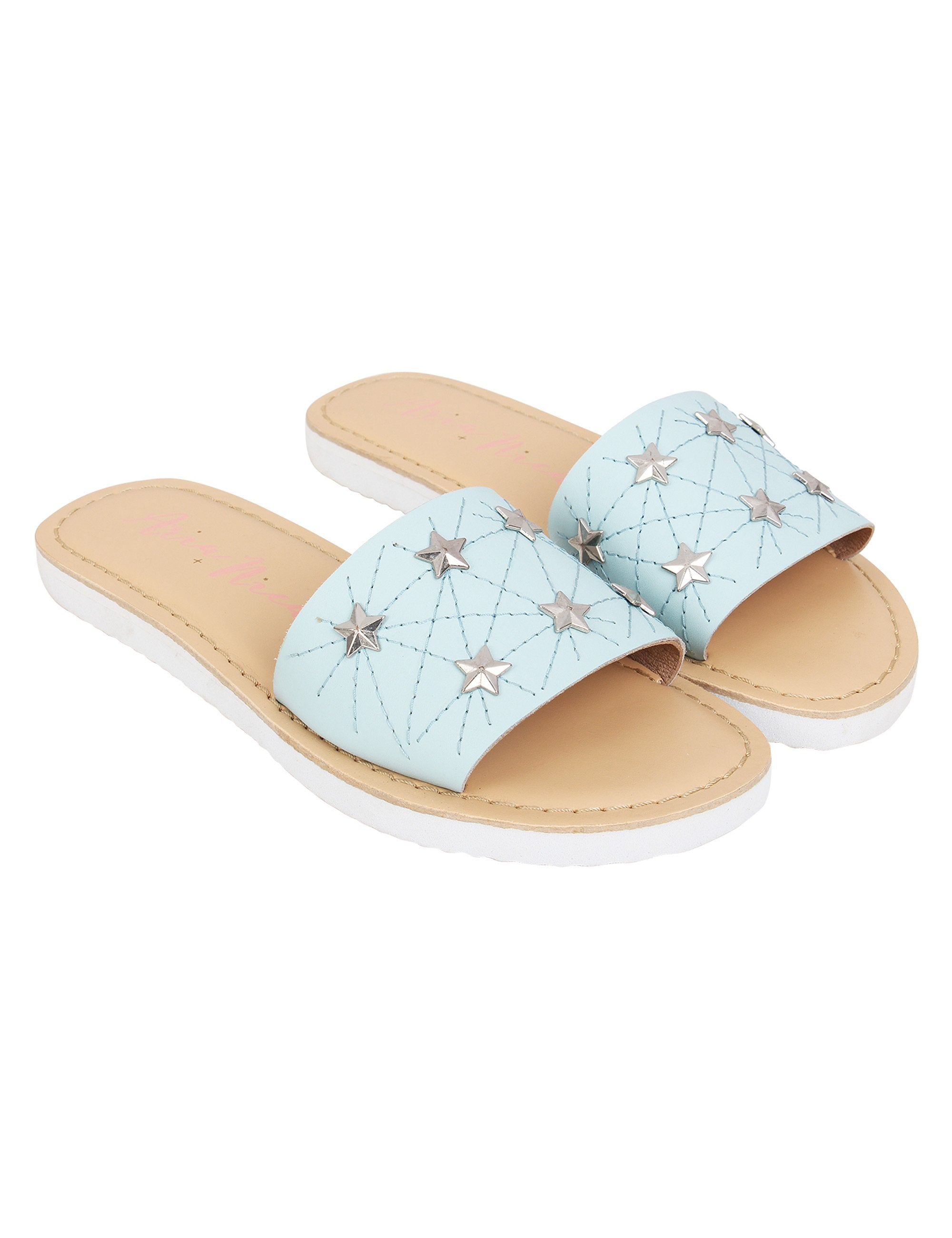 Star Flats for Girls in Blue Colour