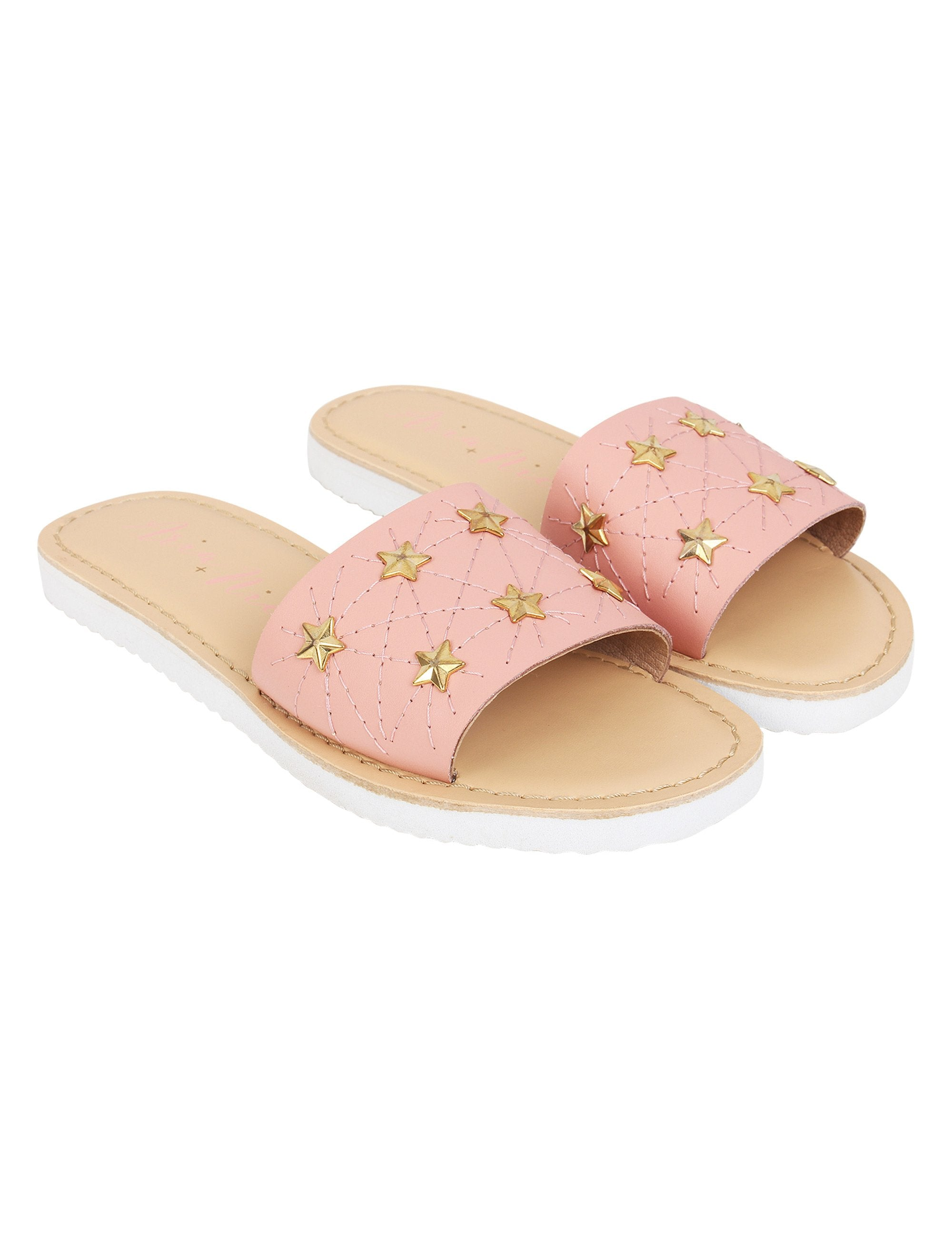 Star Flats for Girls in Pink Colour