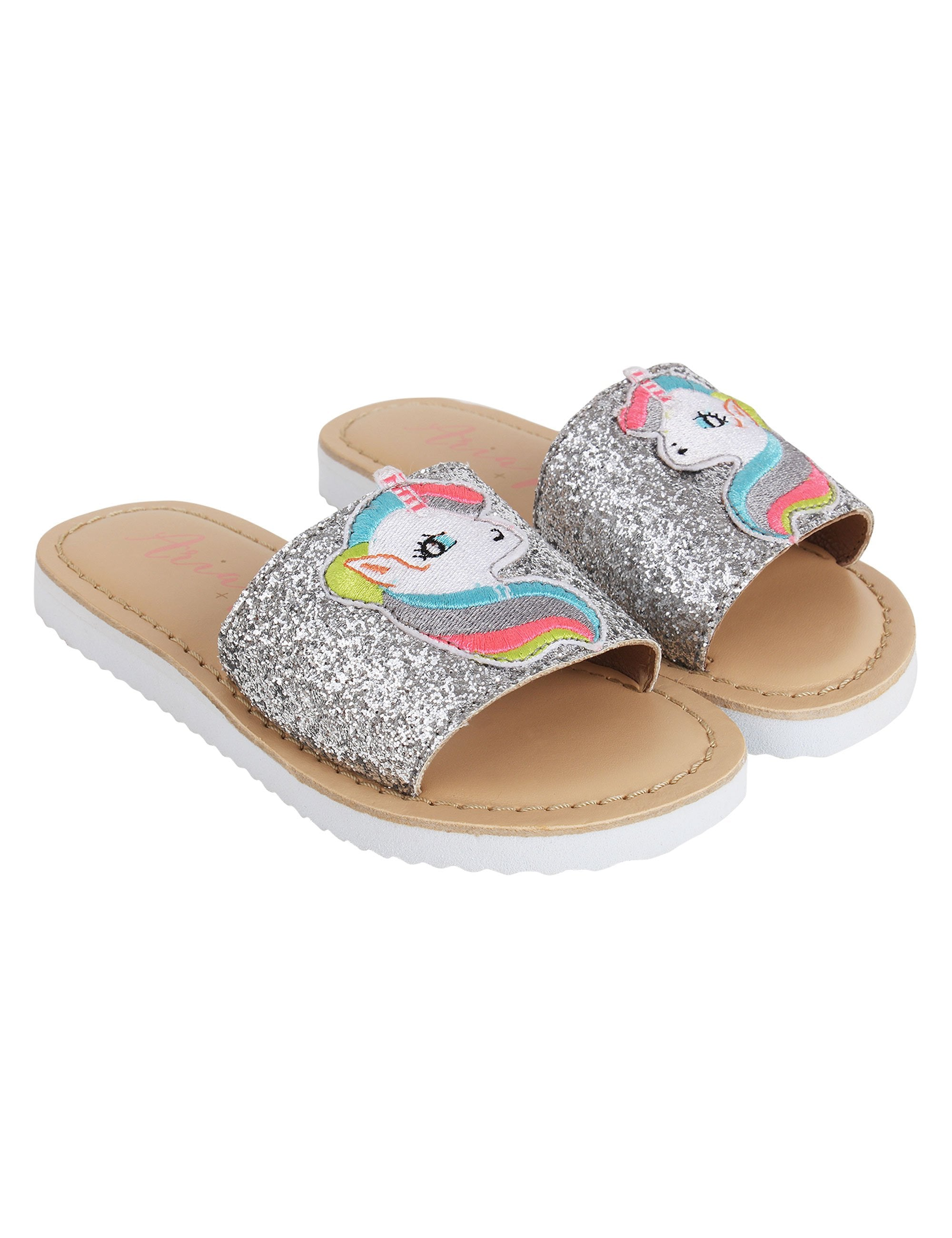 Silver Unicorn Flats for Girls