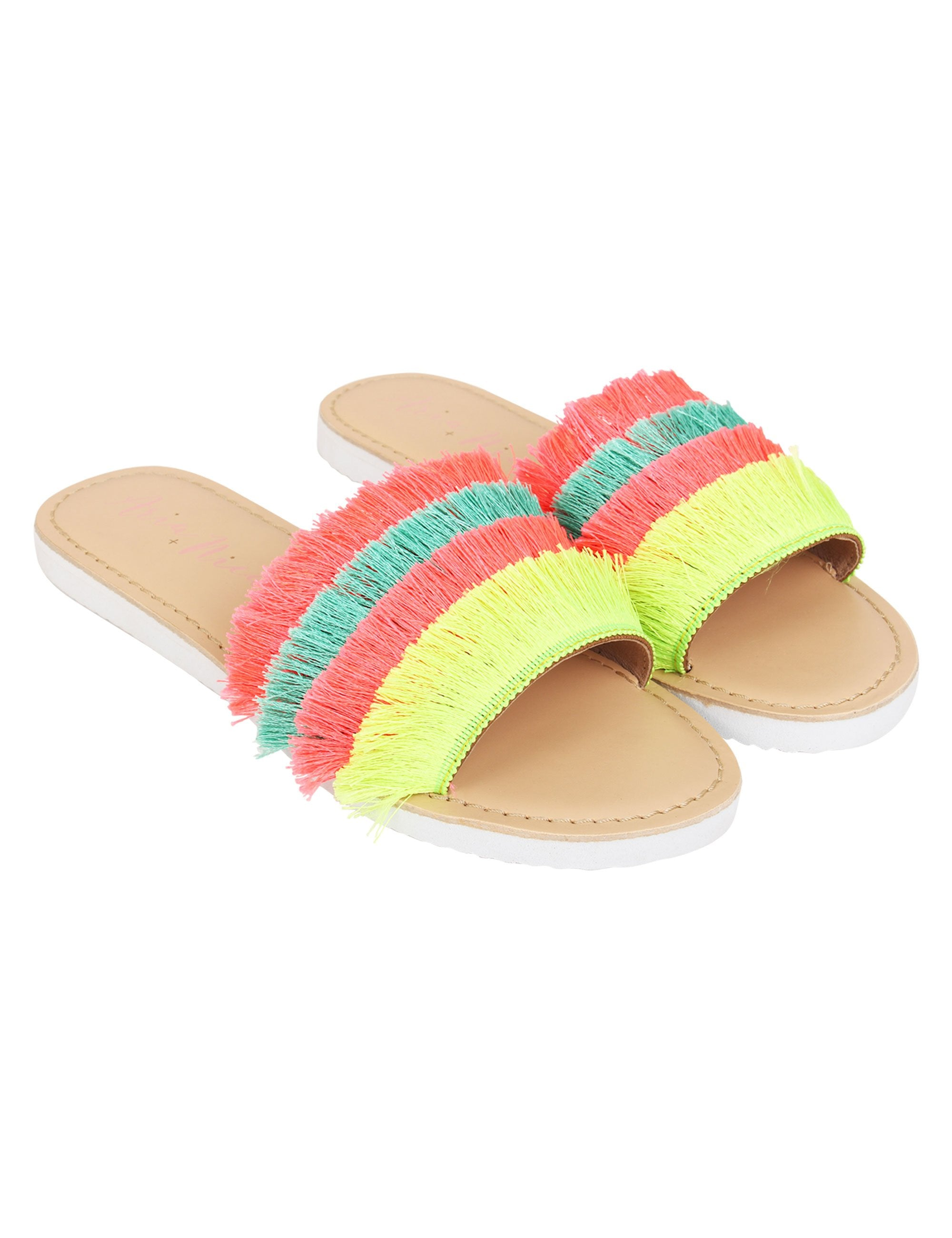 Multi Coloured Flats for Girls