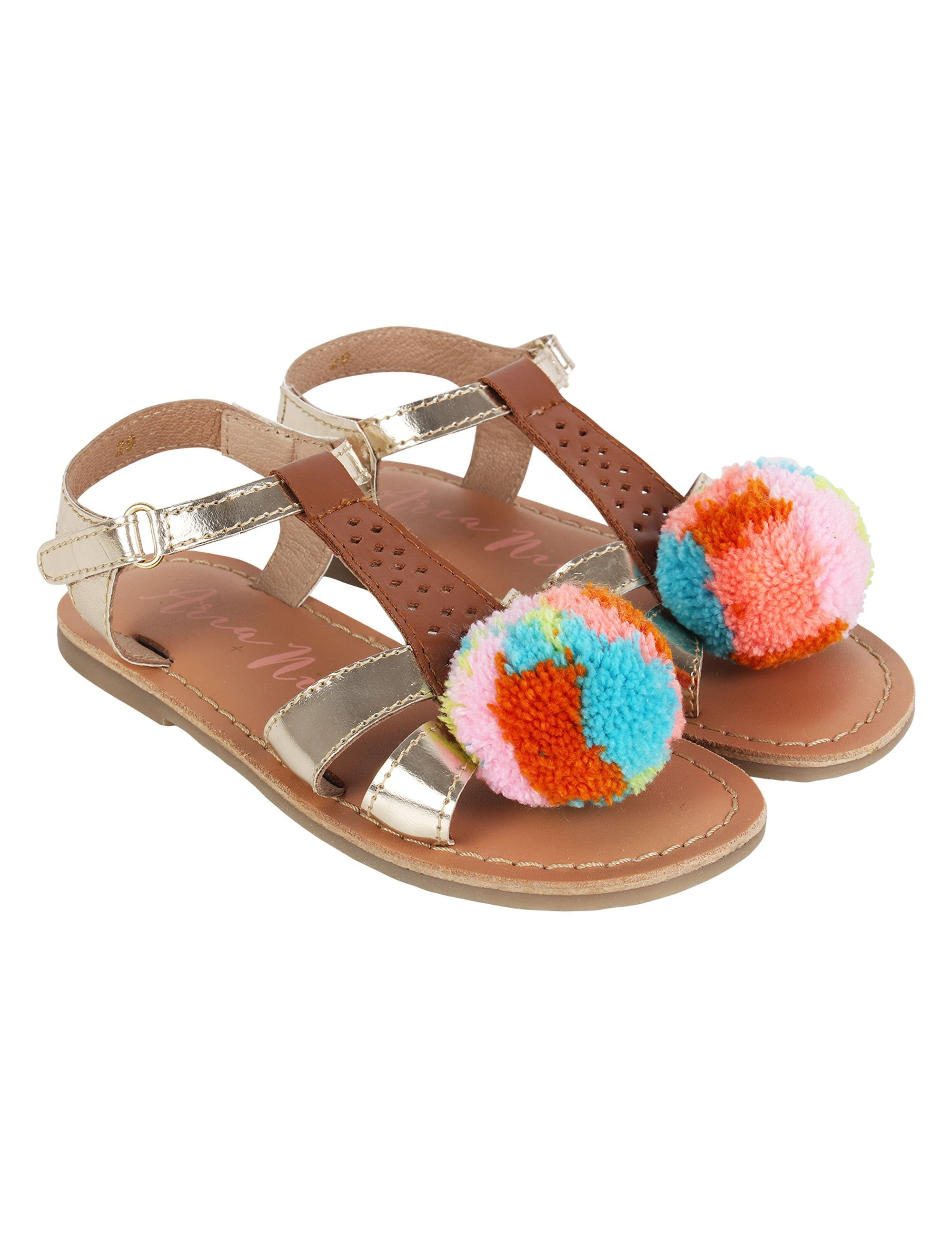 Pom Pom Flats for Girls