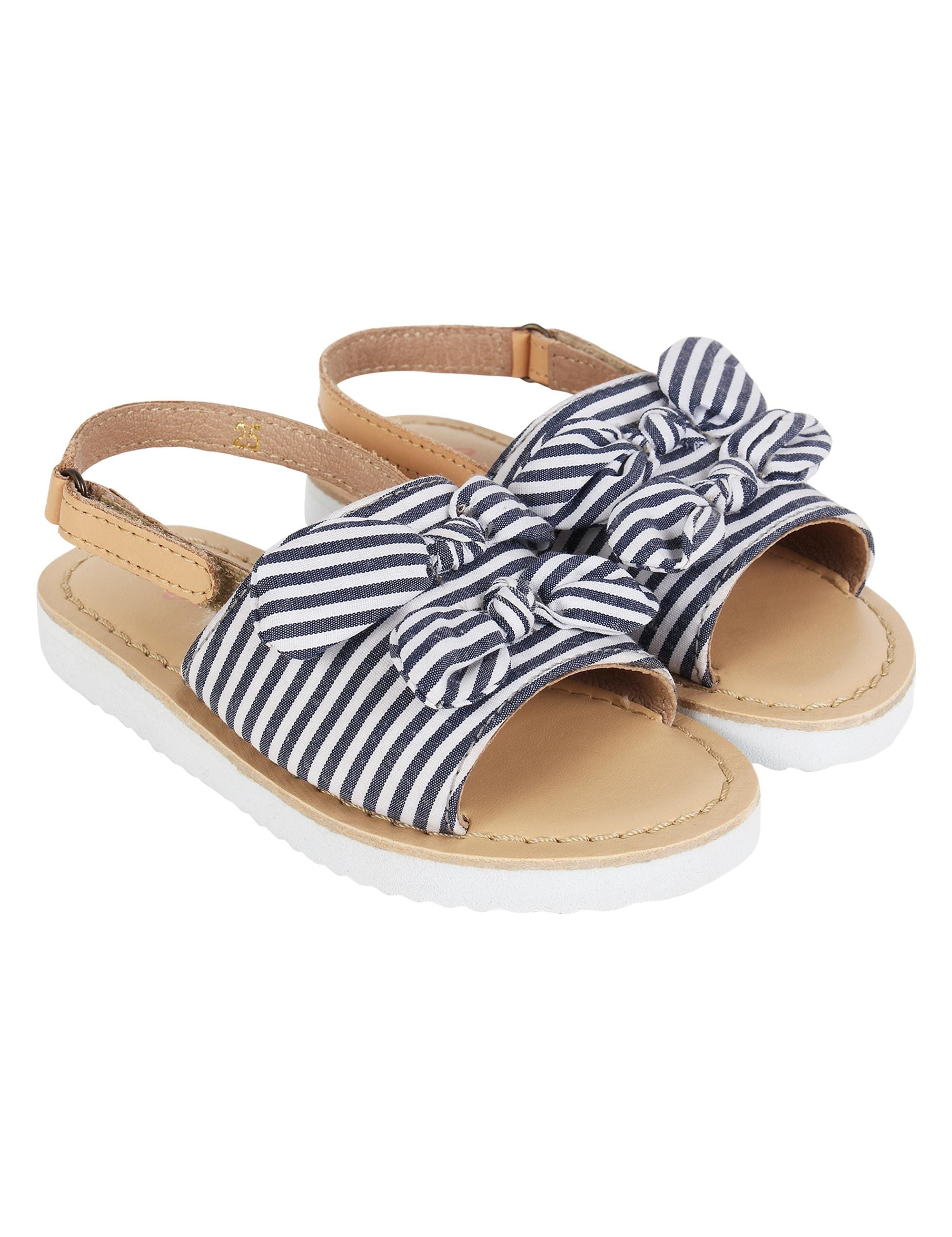 Blue Stripes Flats for Girls