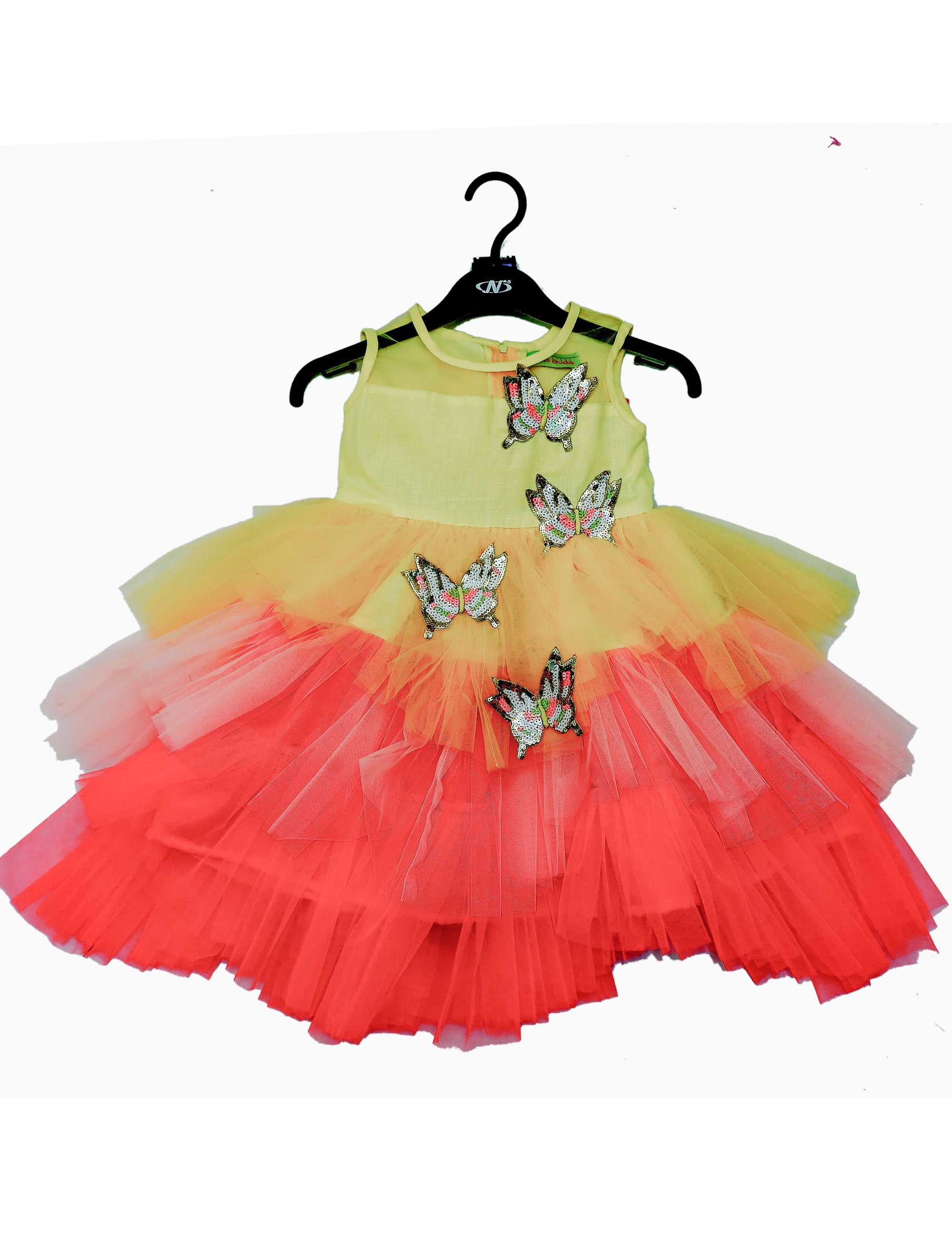 Multi Colour Butterfly Ruffle Skirt