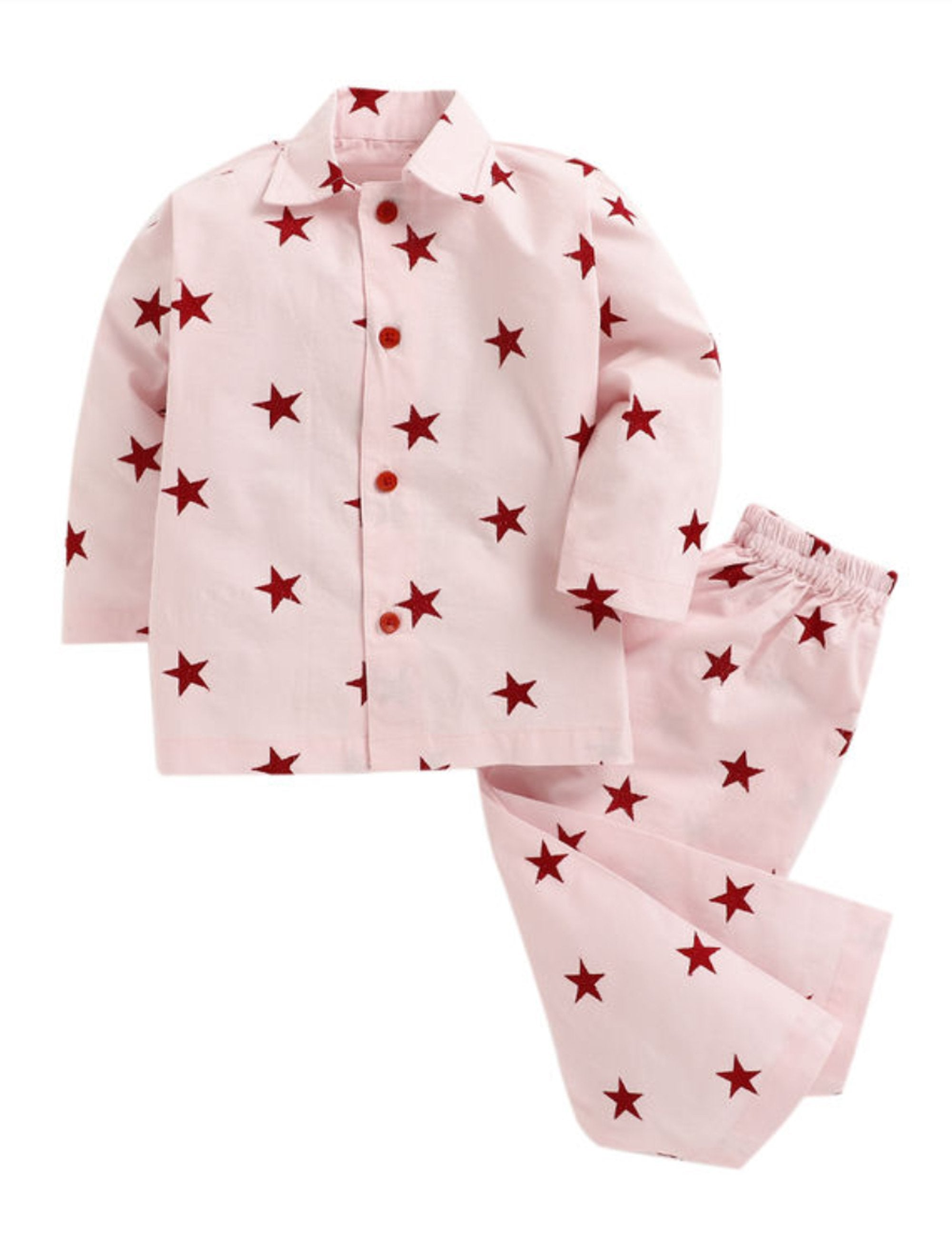 Star Print Night suit-Pink