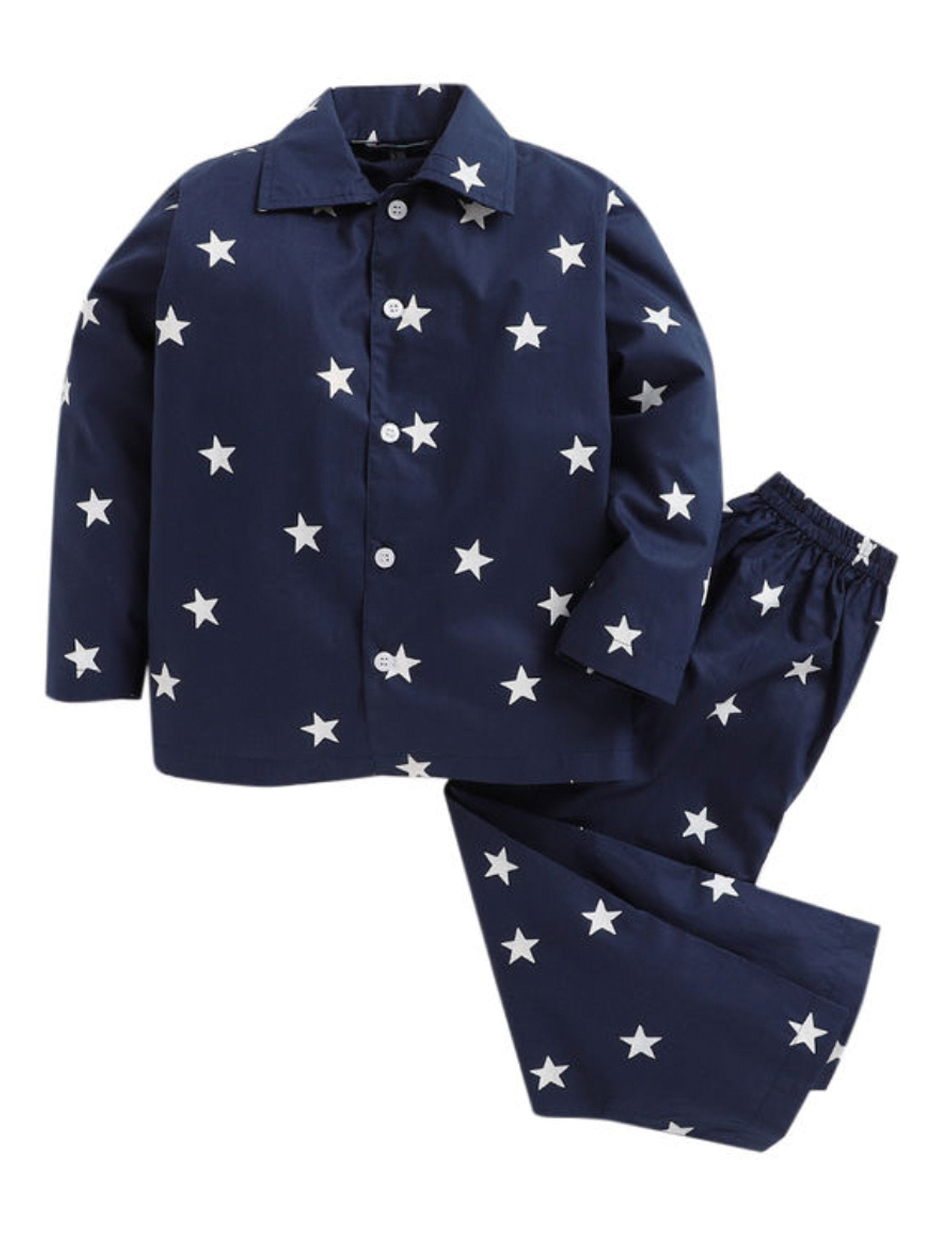 Star Print Night suit-Blue