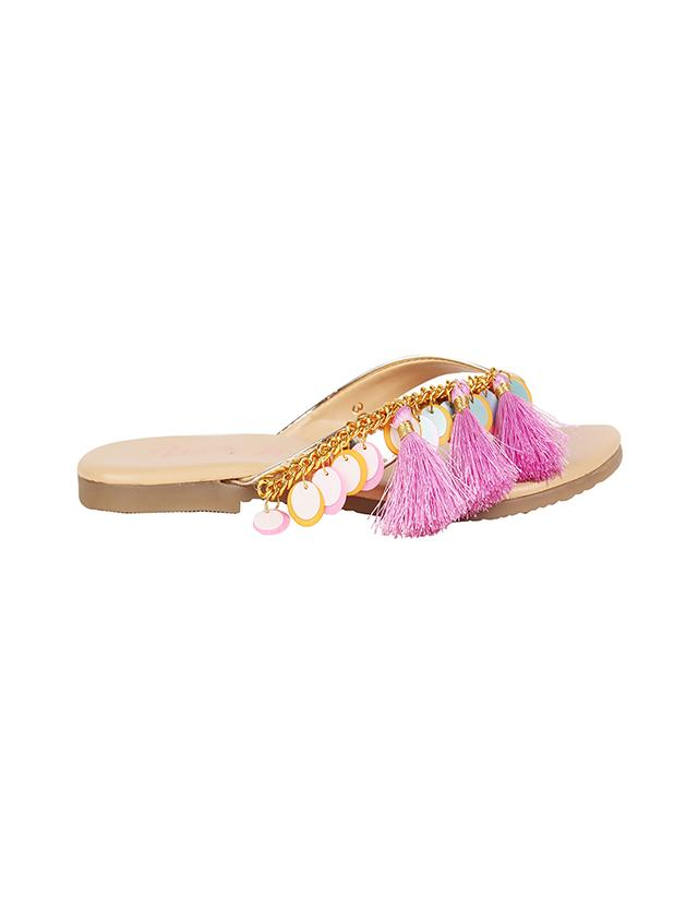 Bubble Flats in Pink Colour