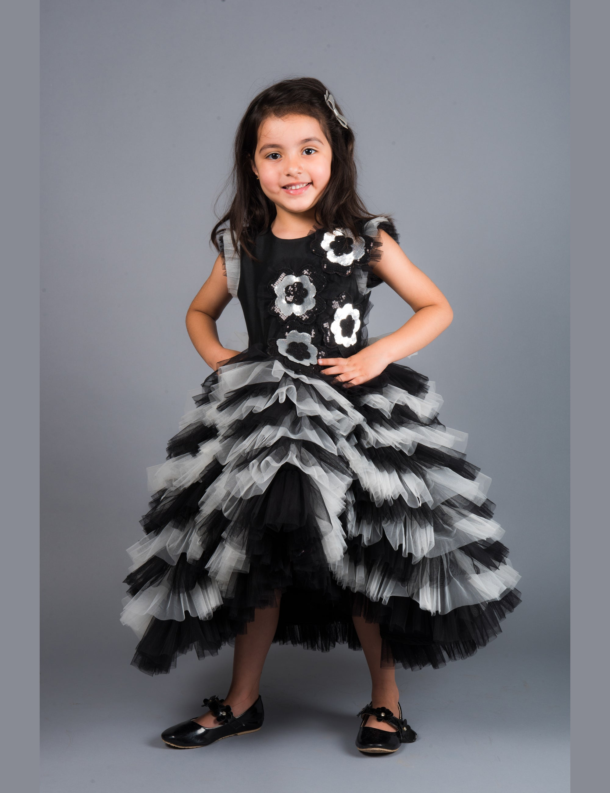 Black Garnet Princess Gown