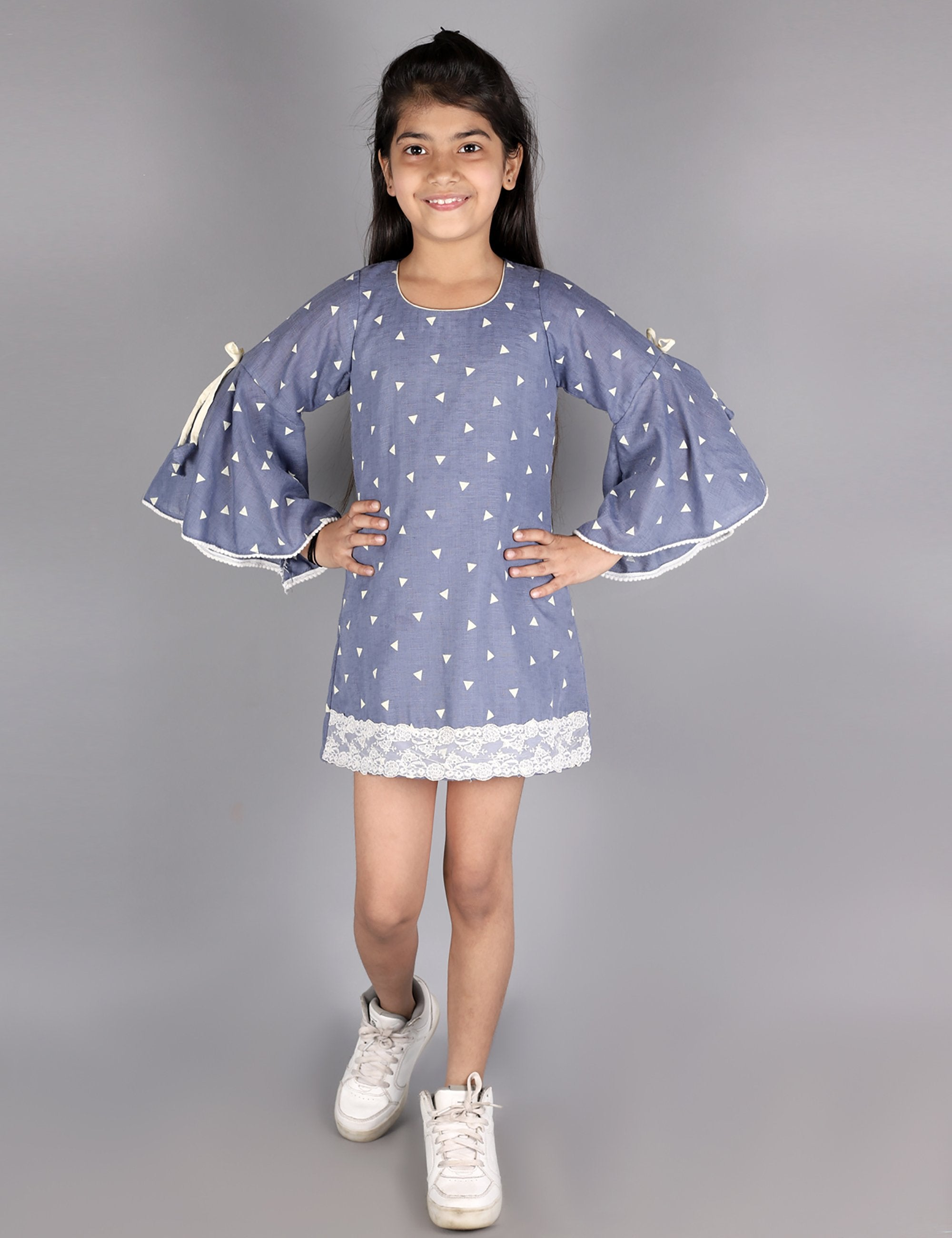 Organic Cotton Bell Sleeves Dress
