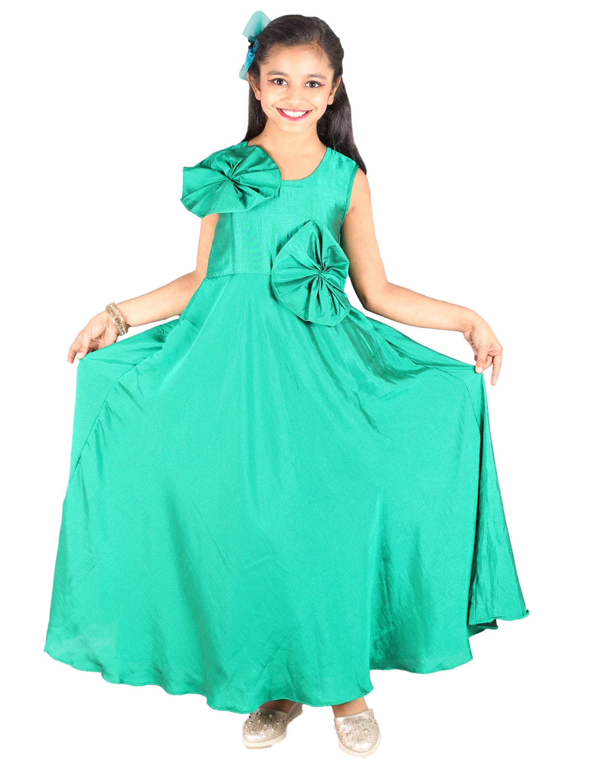 Green Silk Party Dress