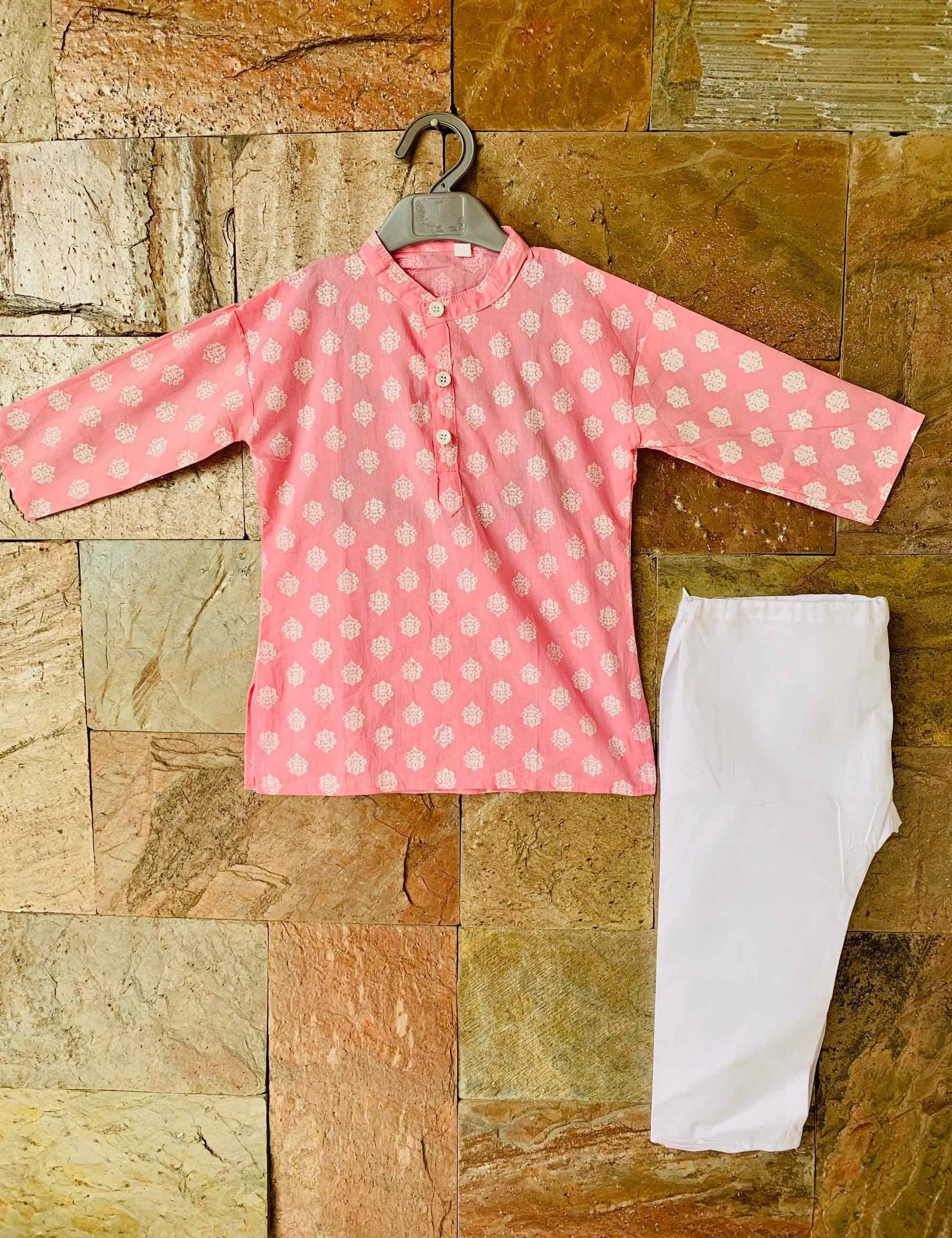 Pink Pastel color Kurta Pyjama Set
