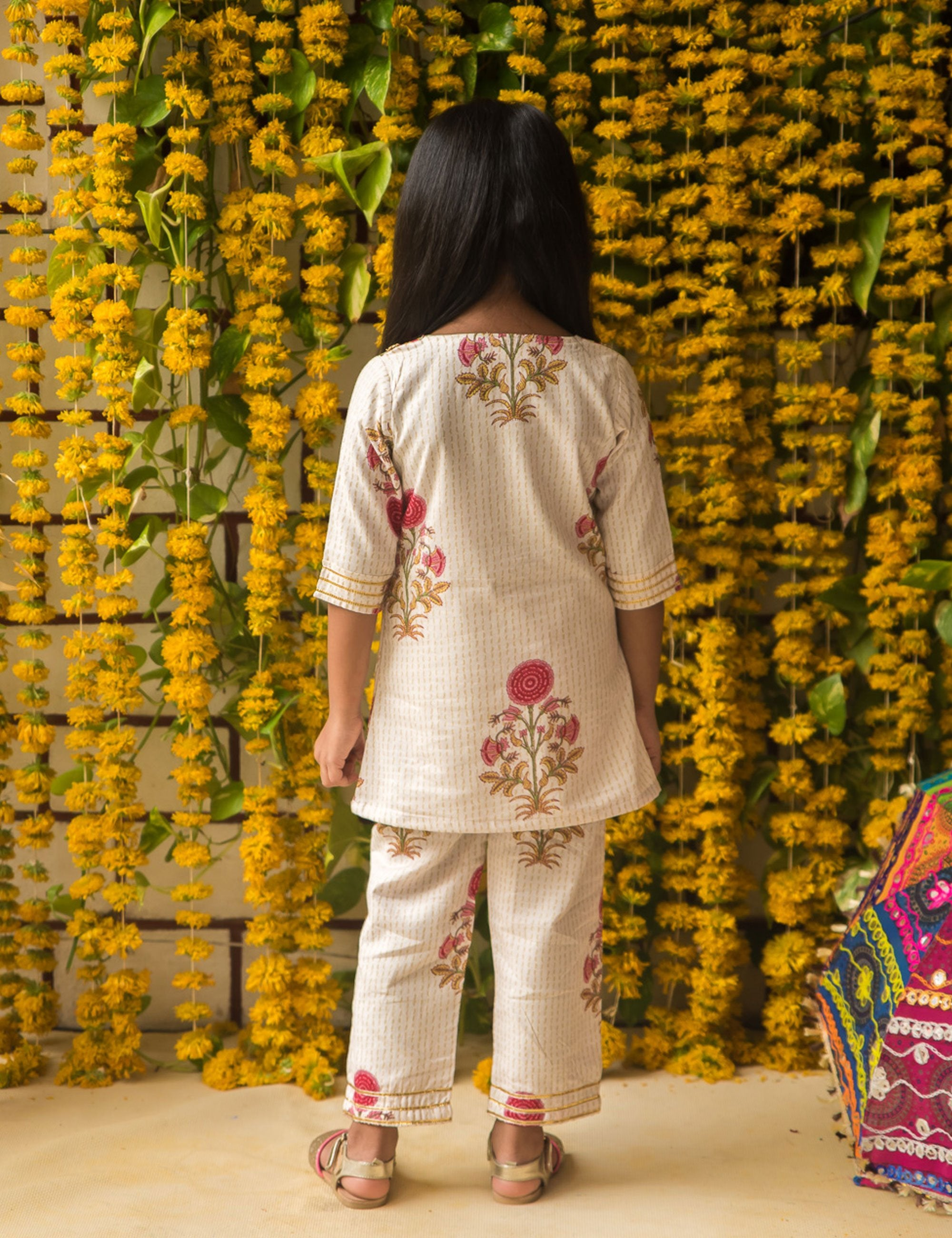 White Kurta Pajama for Girls