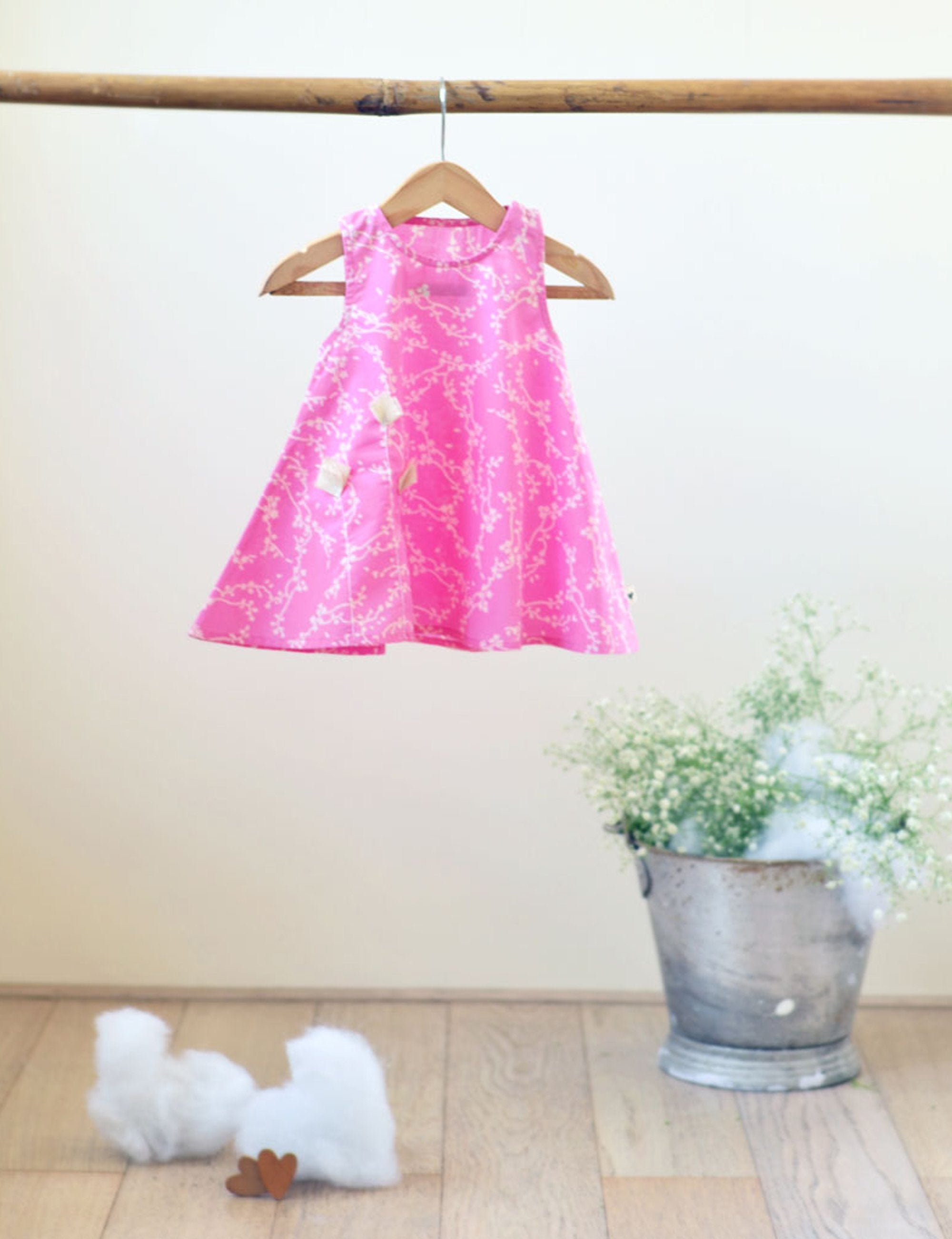 Half Circle Dress in Cherry Blossom