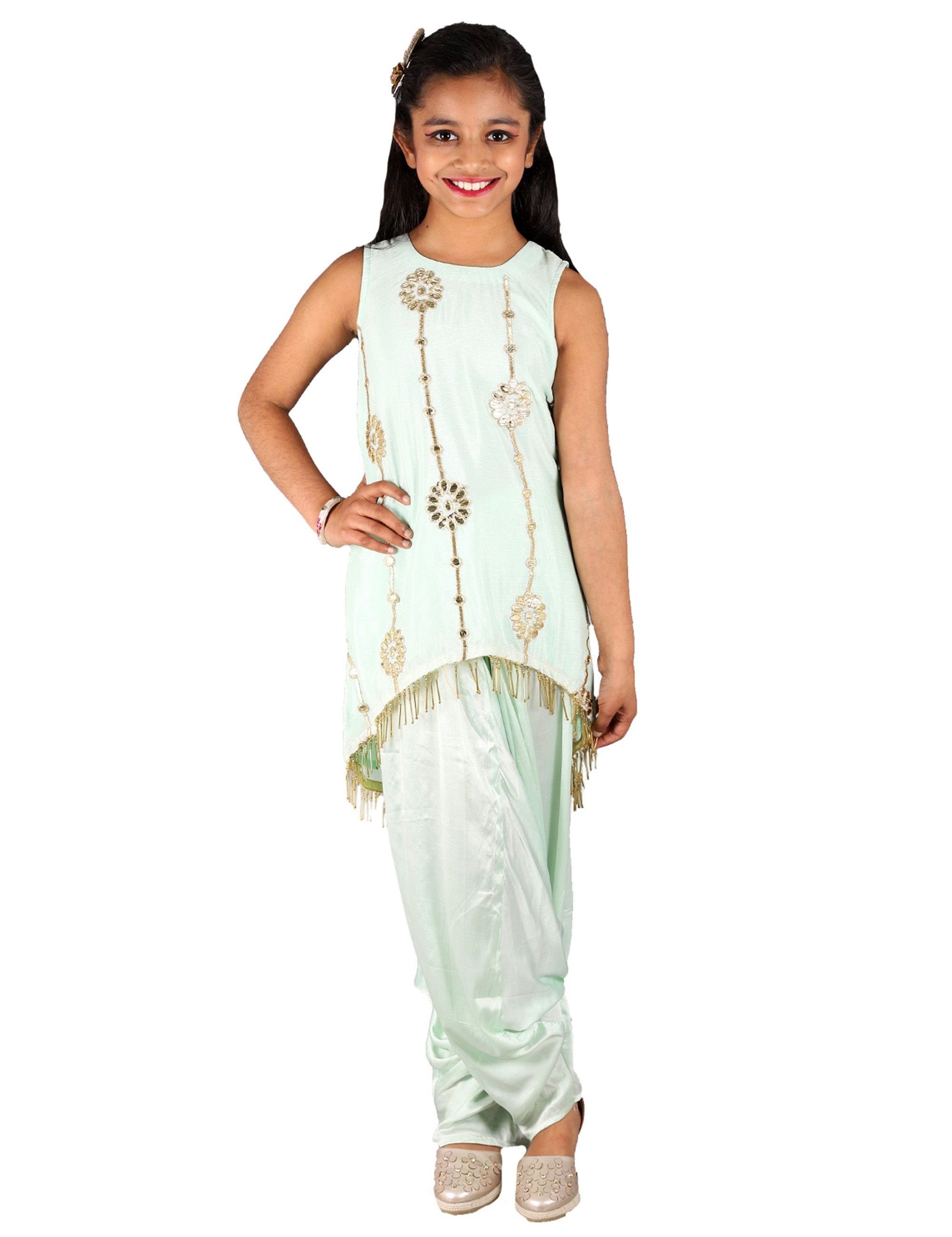 Low High Kurta with Dhoti
