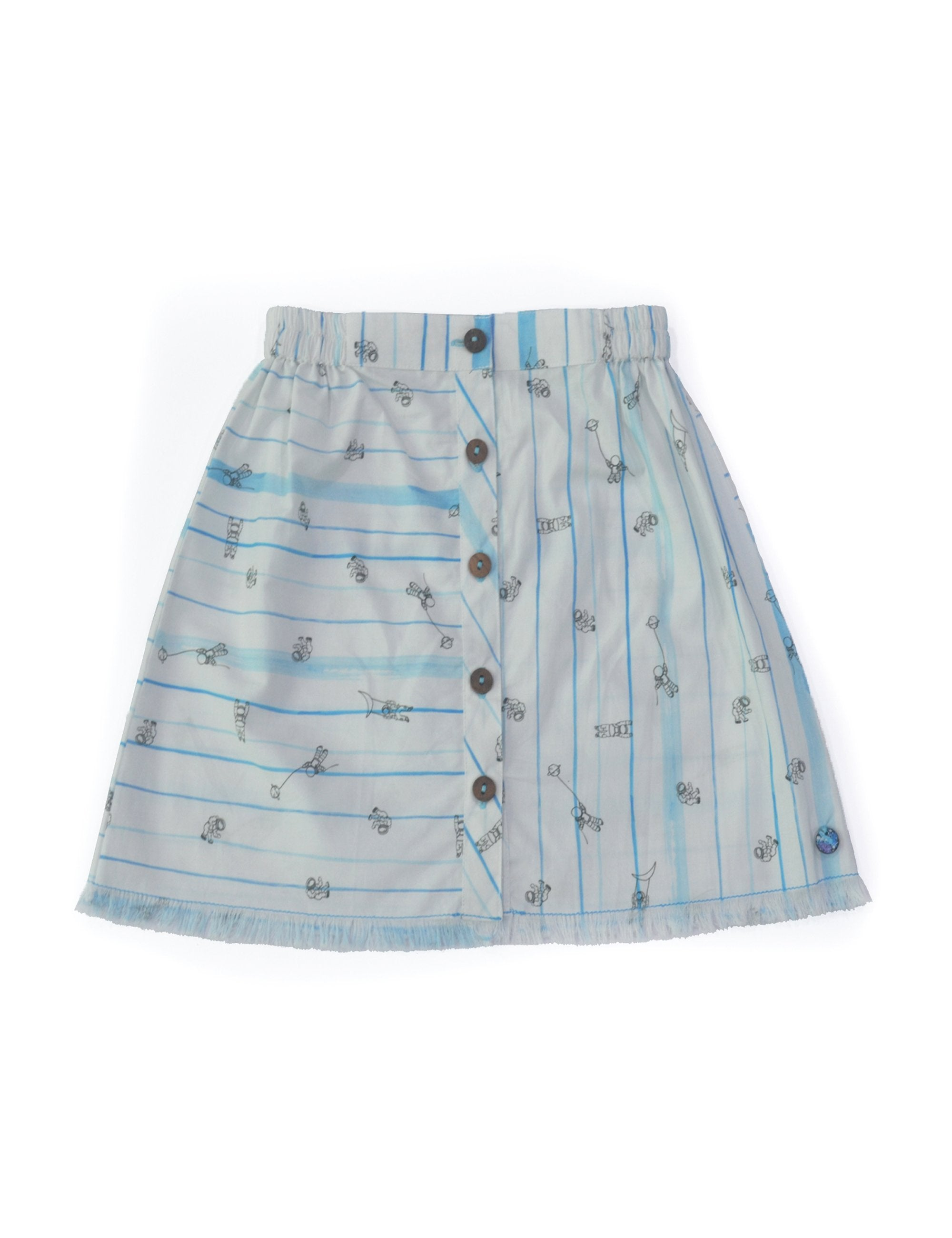 Astronaut Button Up Skirt