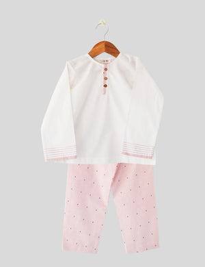 Anchor Ahoy Pink & White Night Wear for Girls