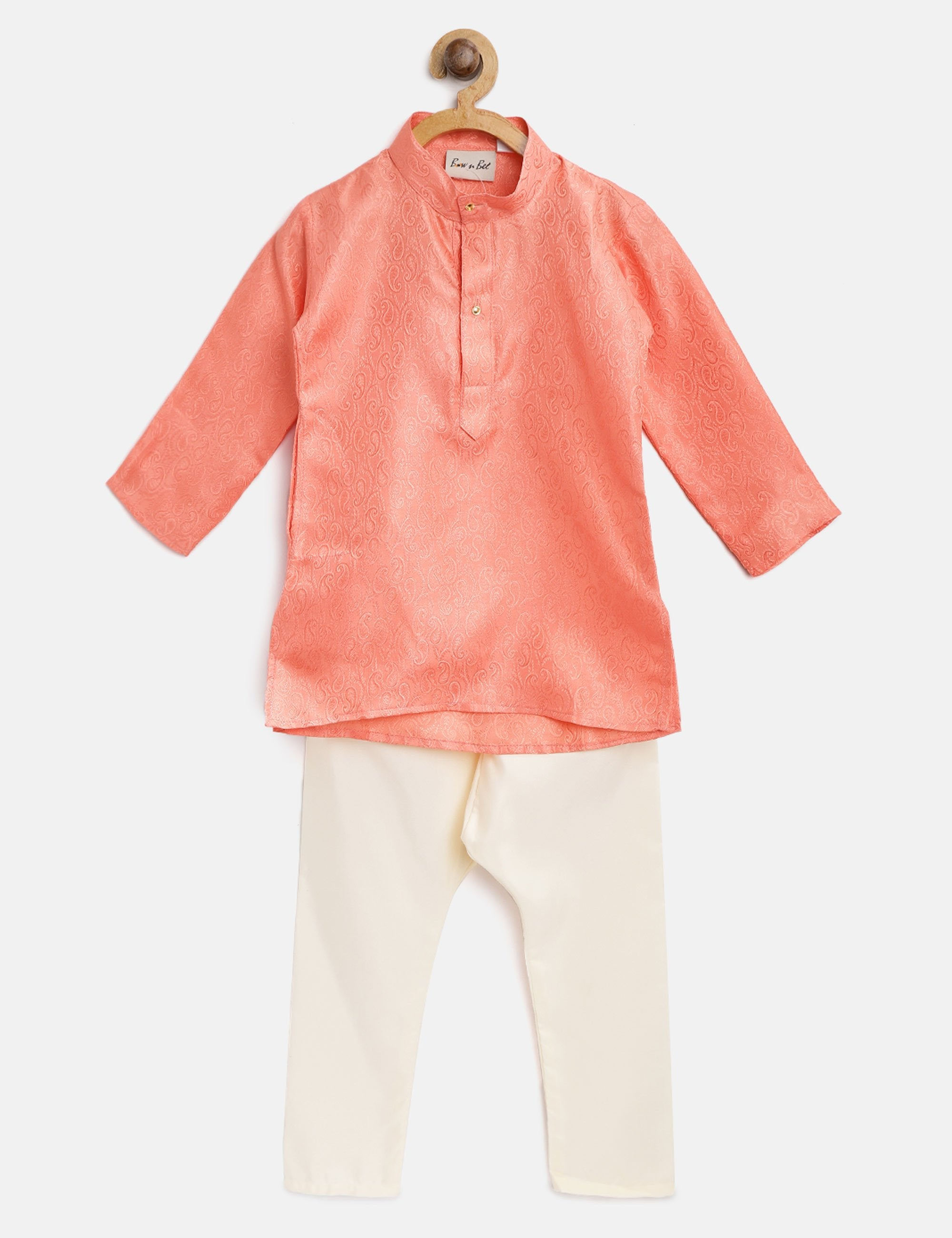 Ethnic Grace Kurta Pajama for Baby Boy- Peach