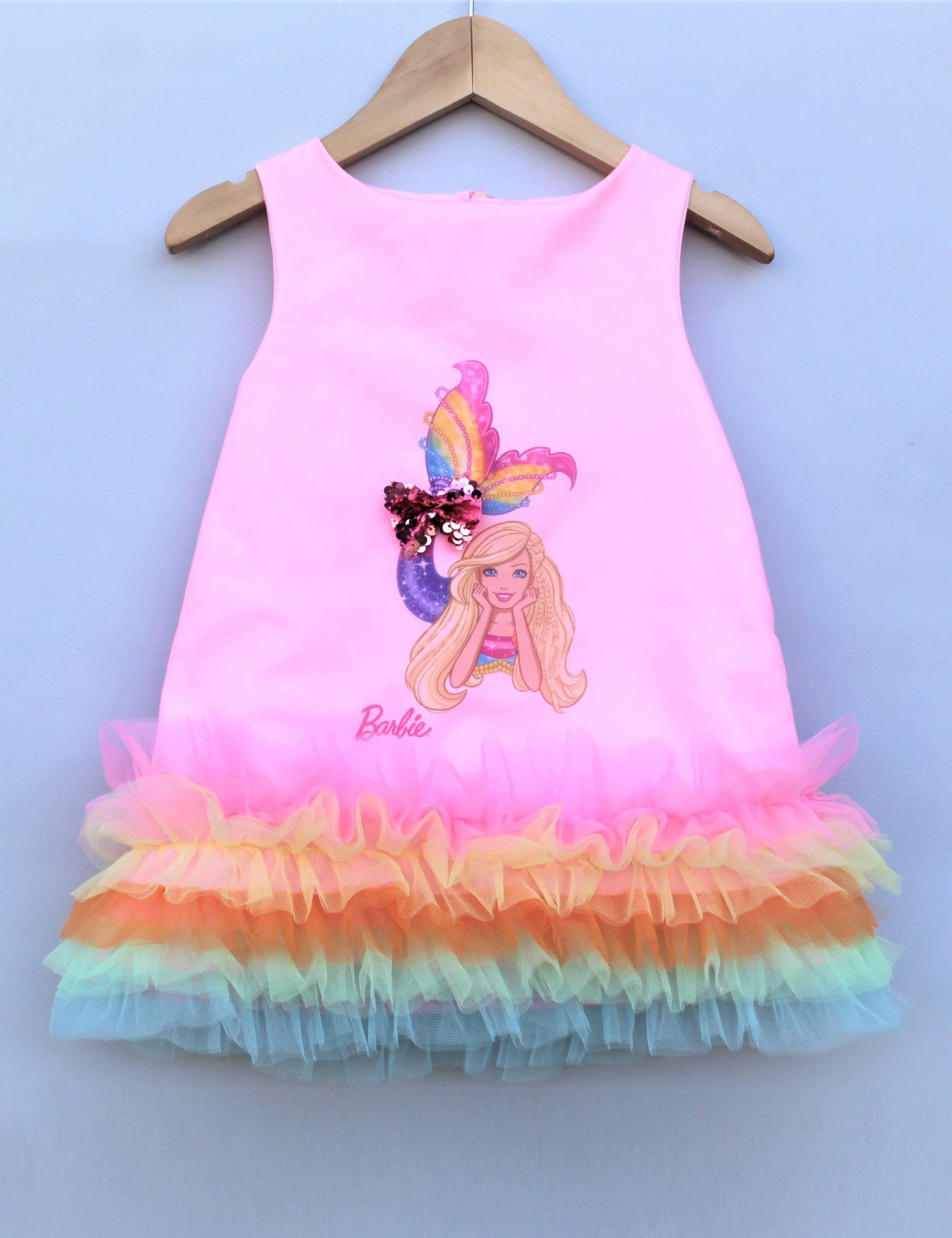 rainbow cove pink mermaid party dress