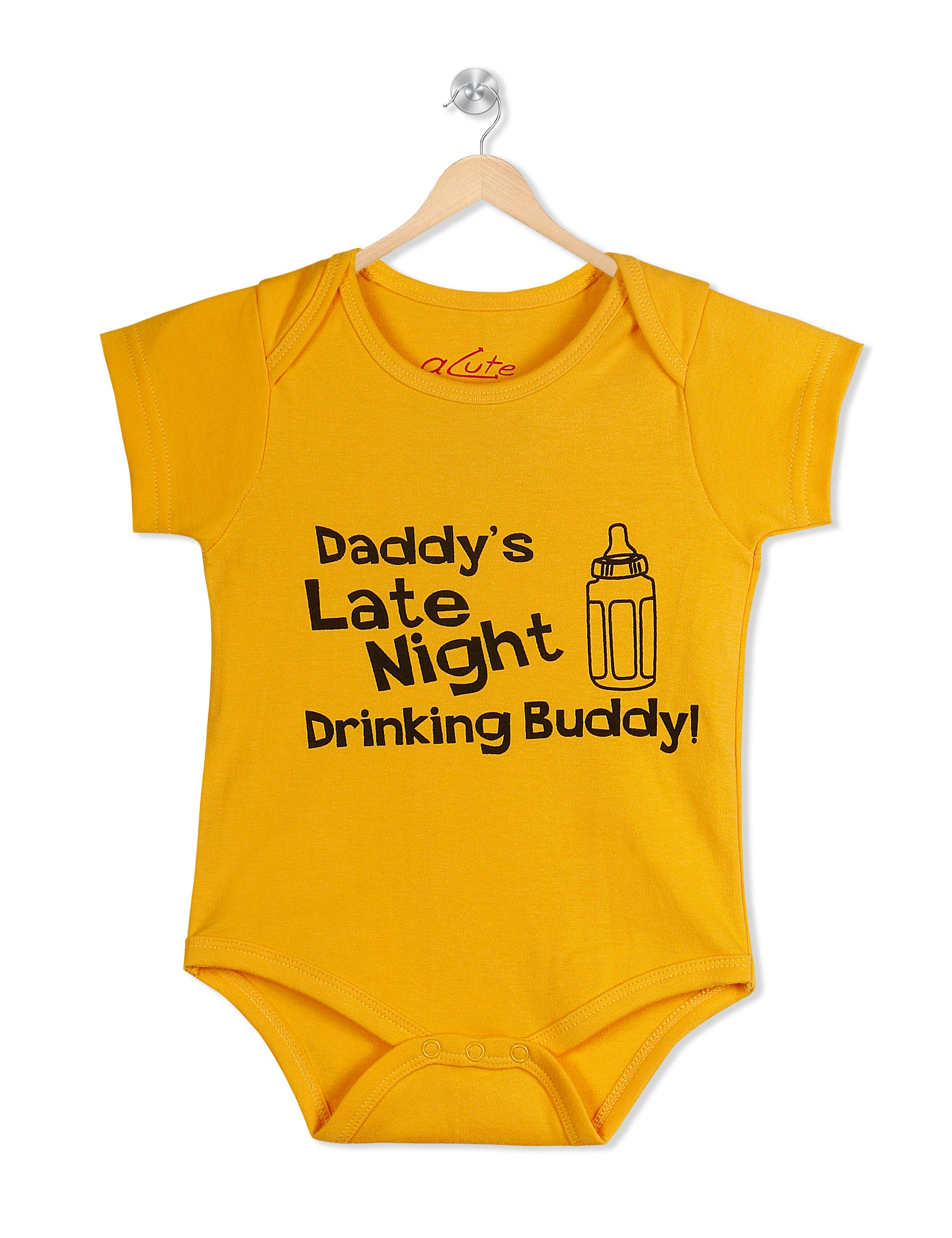 Daddy's Late Night Drinking Buddy Cotton Baby Romper