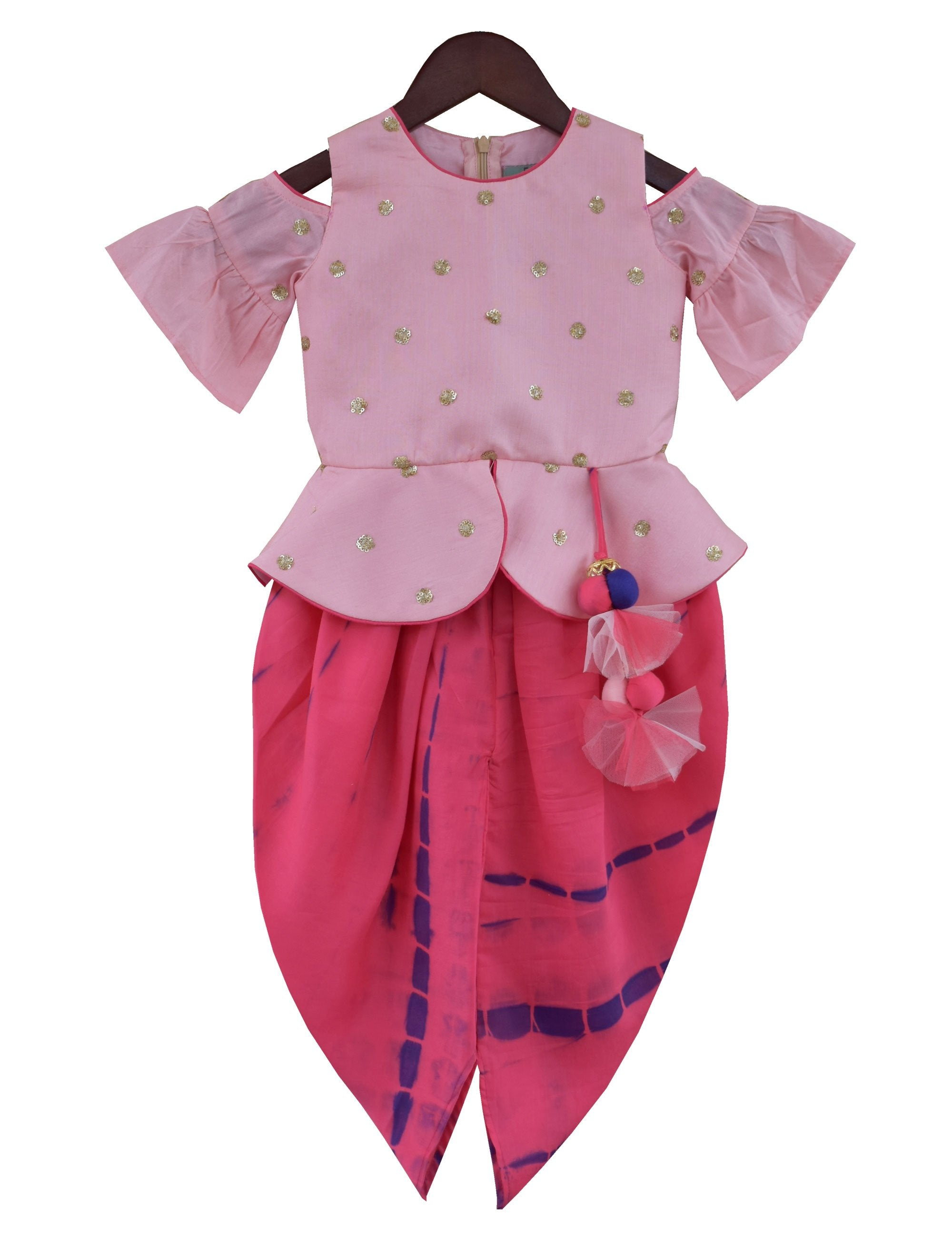 Choli with Dhoti in Pink Colour
