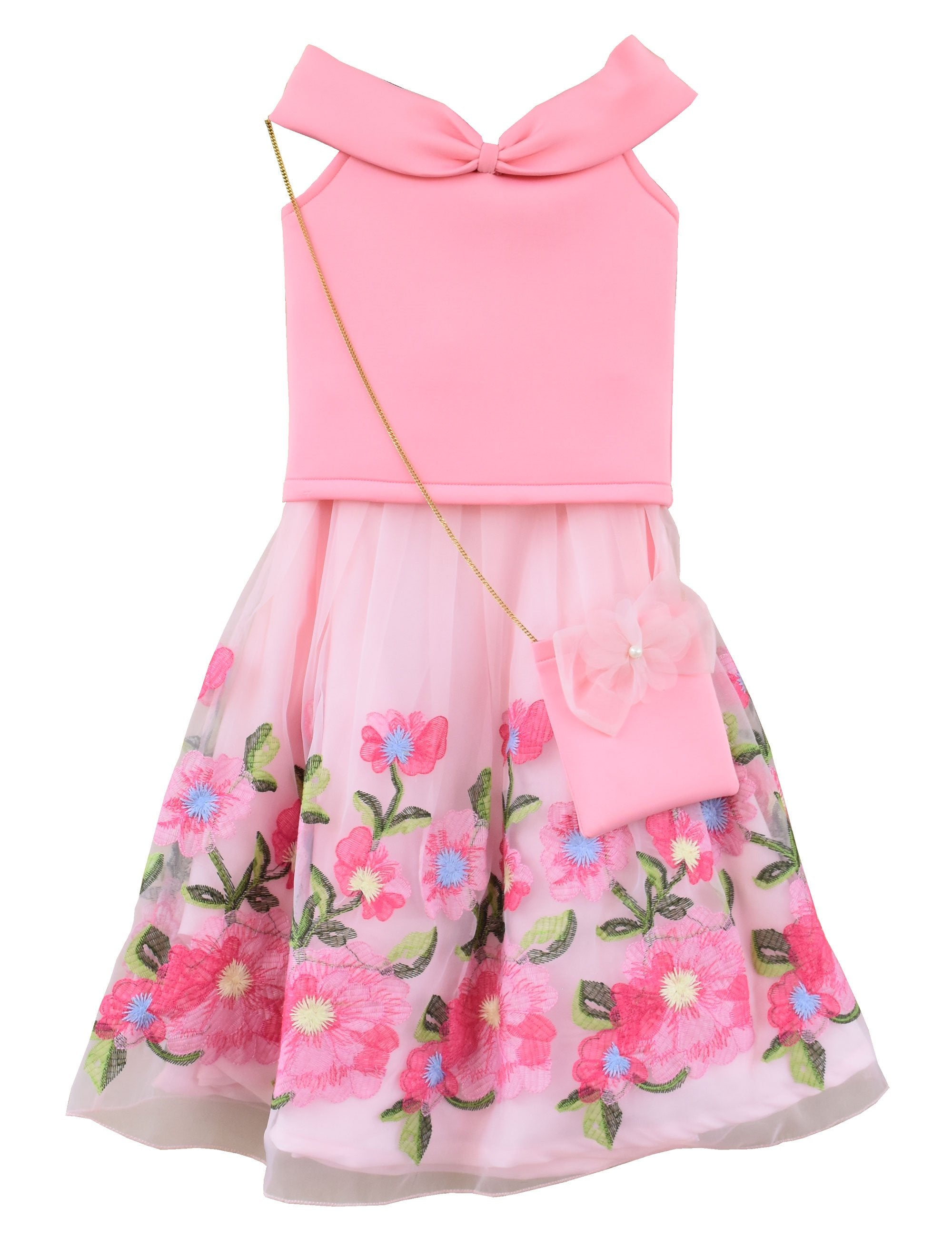 Top with Skirt in Pink Colour