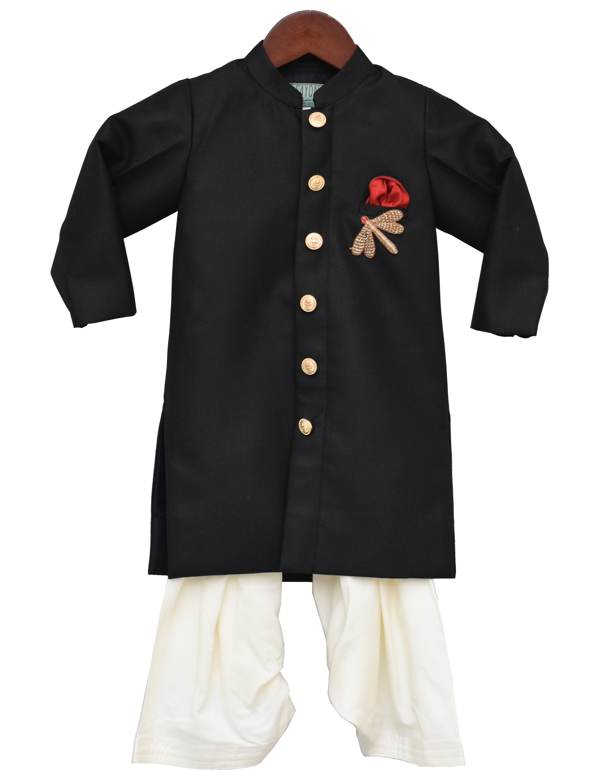 Black Ajkan with Salwar for Boys