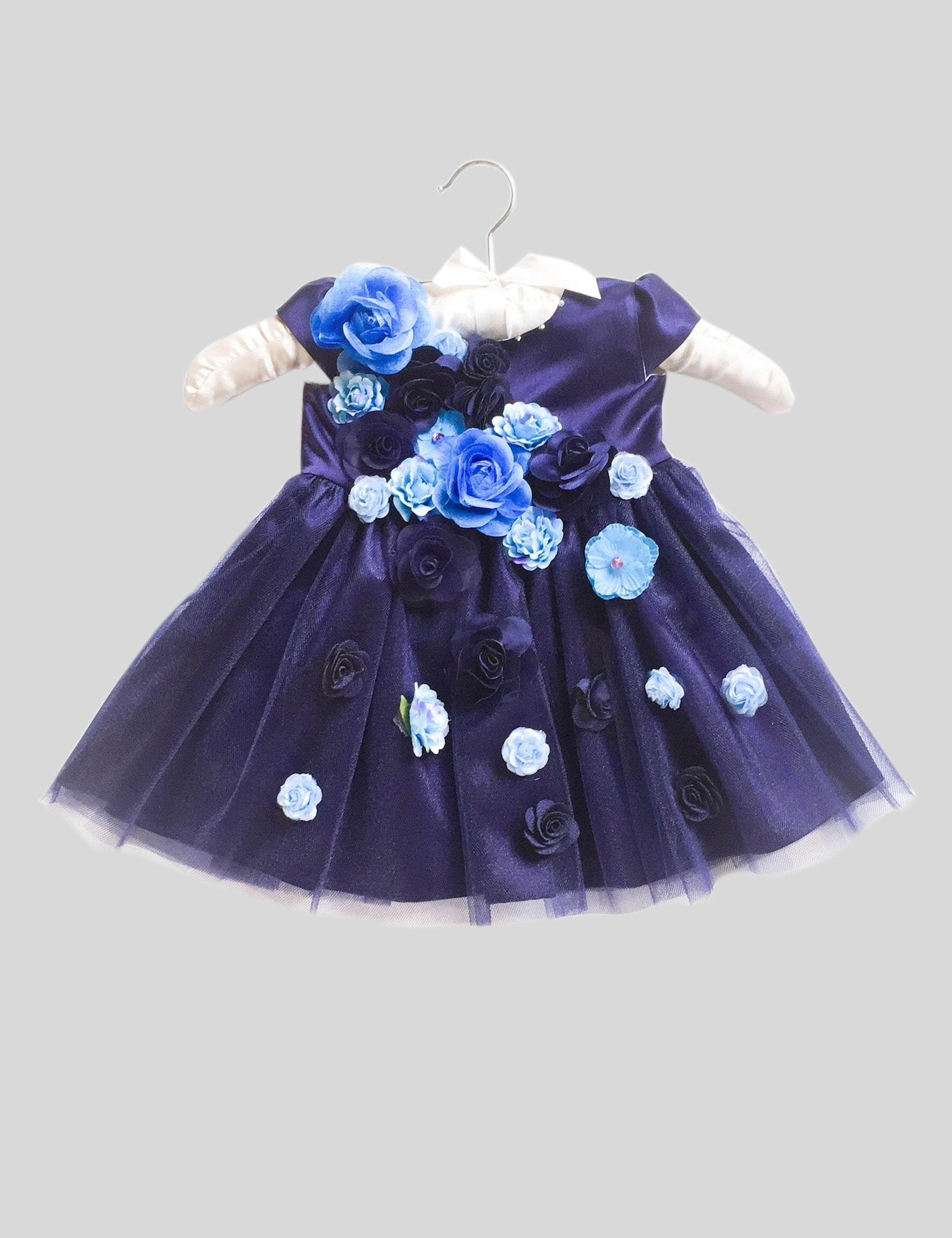 Blue Iris Dress in Blue Colour for Girls