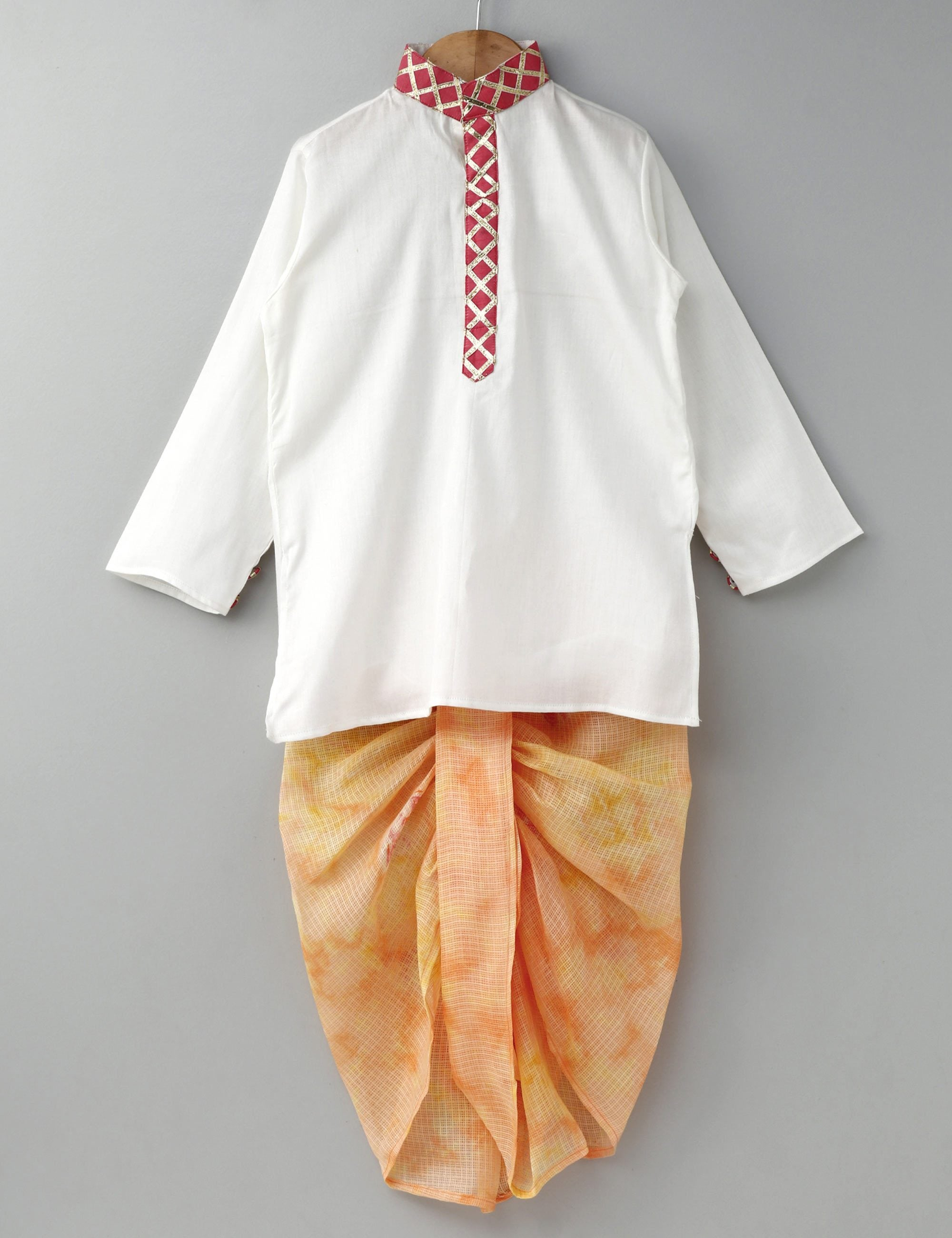 Kurta with doriya Dhoti