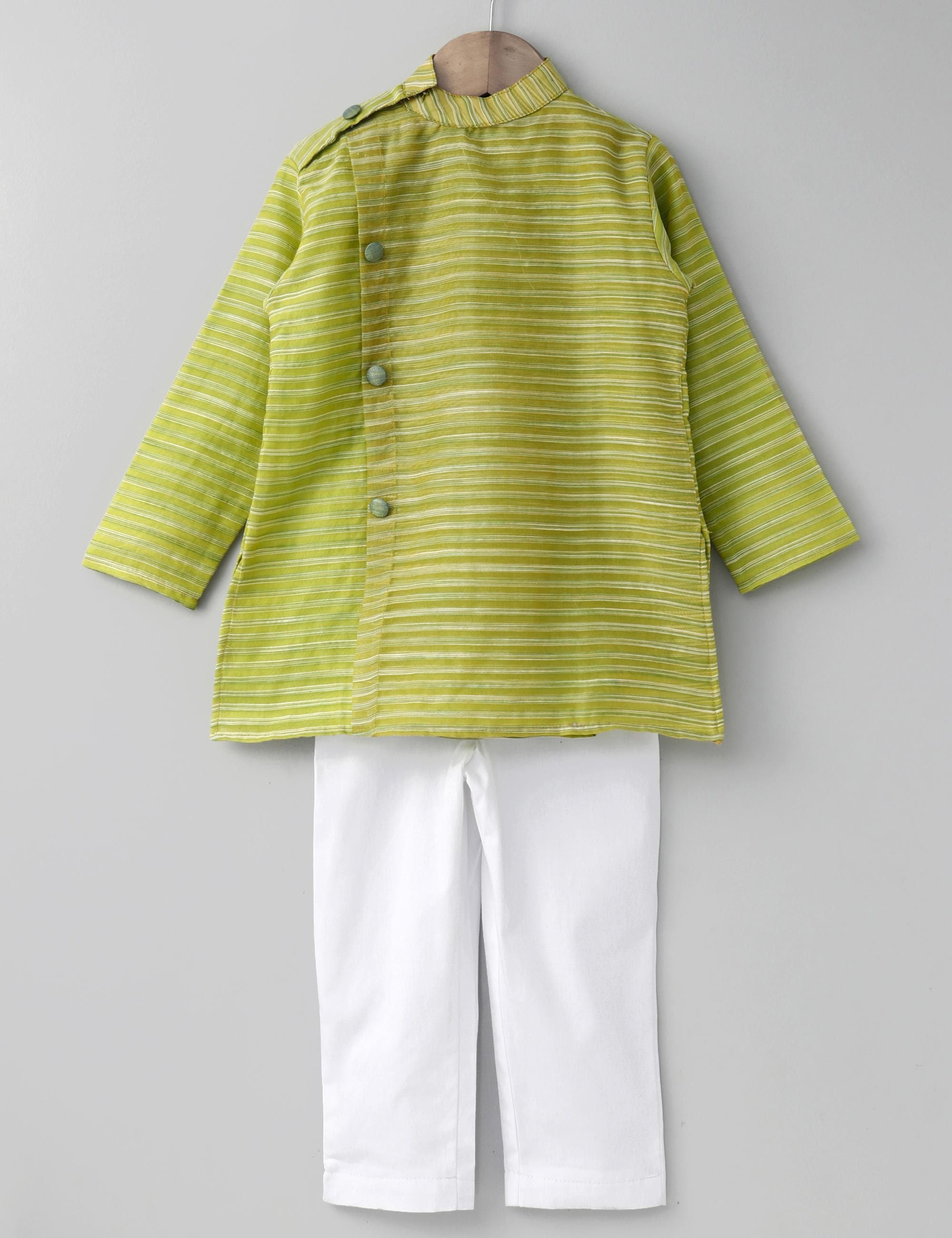 Side Button Kurta with Pants