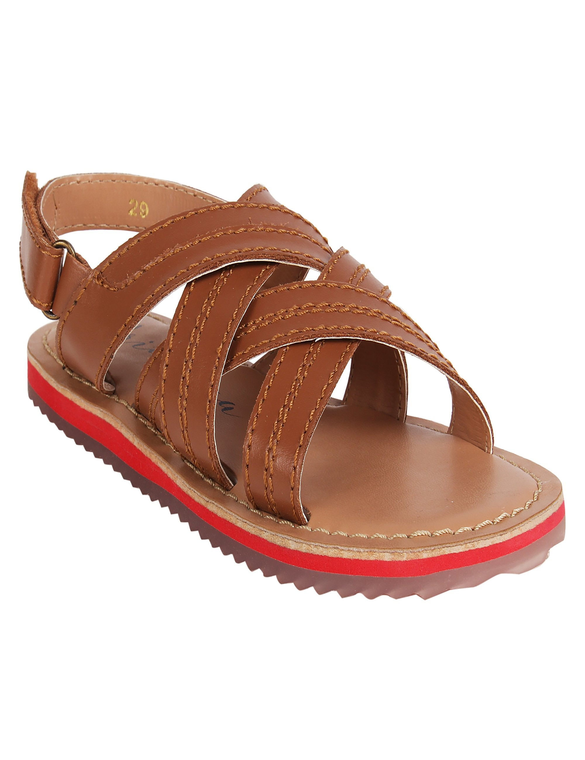 Criss Cross Flats in Brown Colour