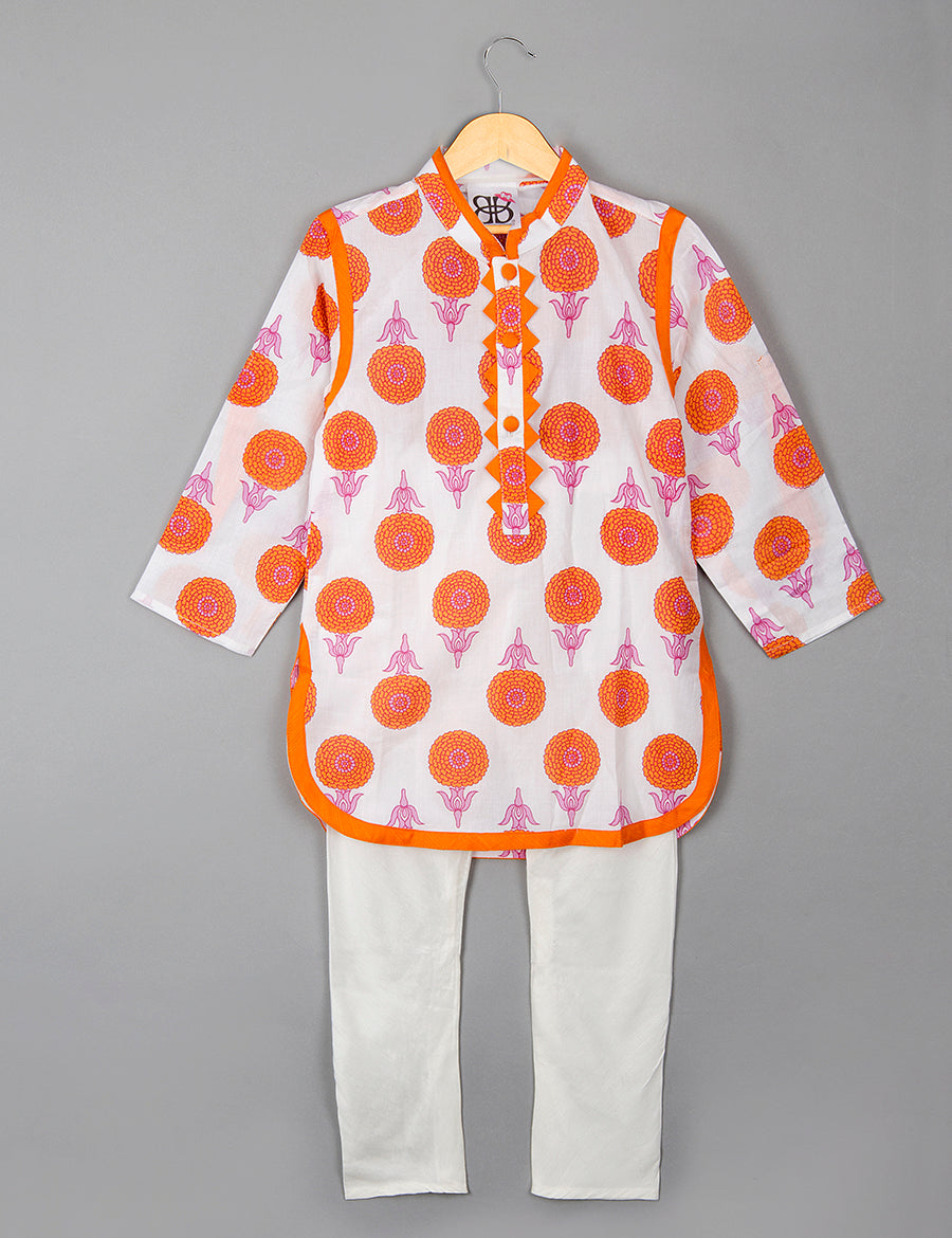 Marigold Kurta Pyajama Set for Boys