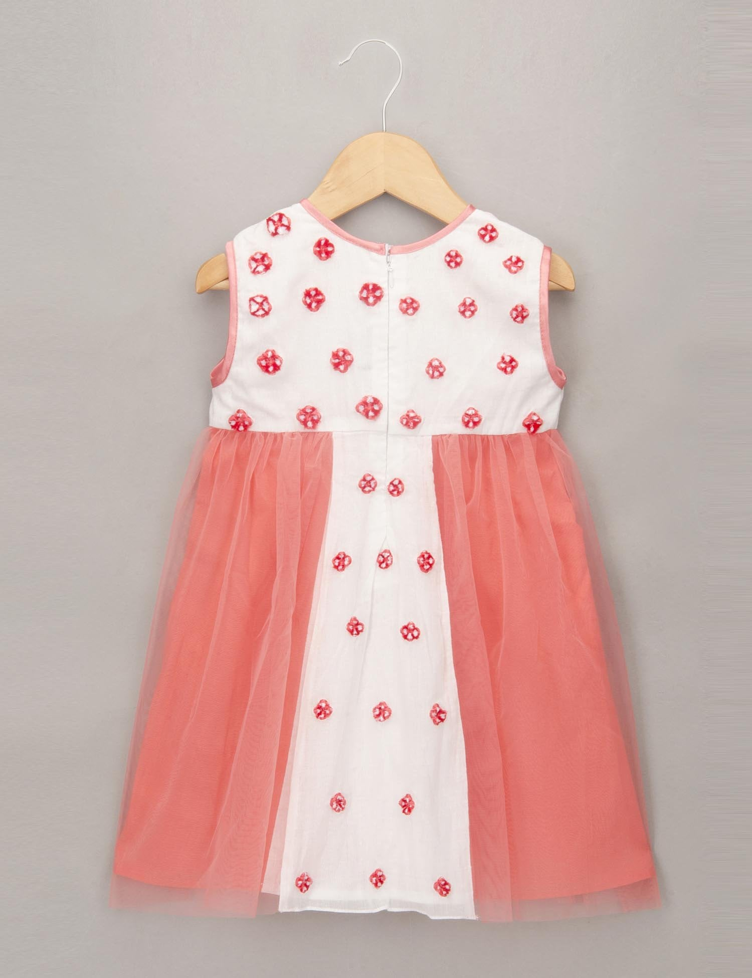 Pink Mal Dress with Patchwork Embroidered