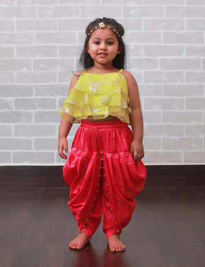 Indo Western Dhoti Set for Girls