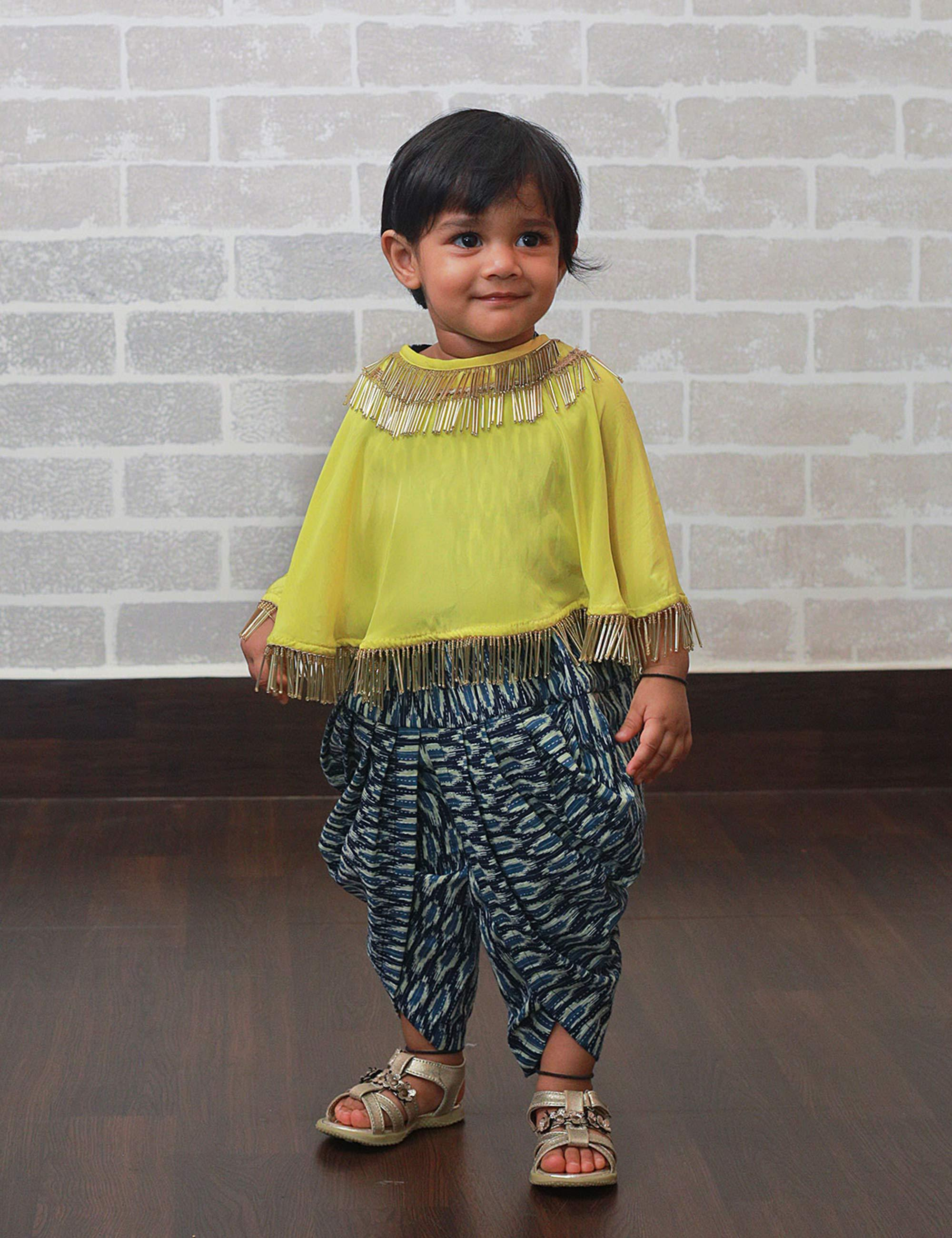 b085688a Buy Indo Western Dhoti Set for Girls at best Price - Mini Firgun