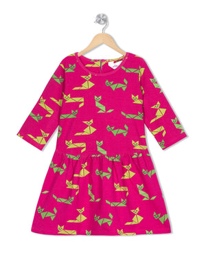 Kitty Cats frock in Pink Colour for Girls