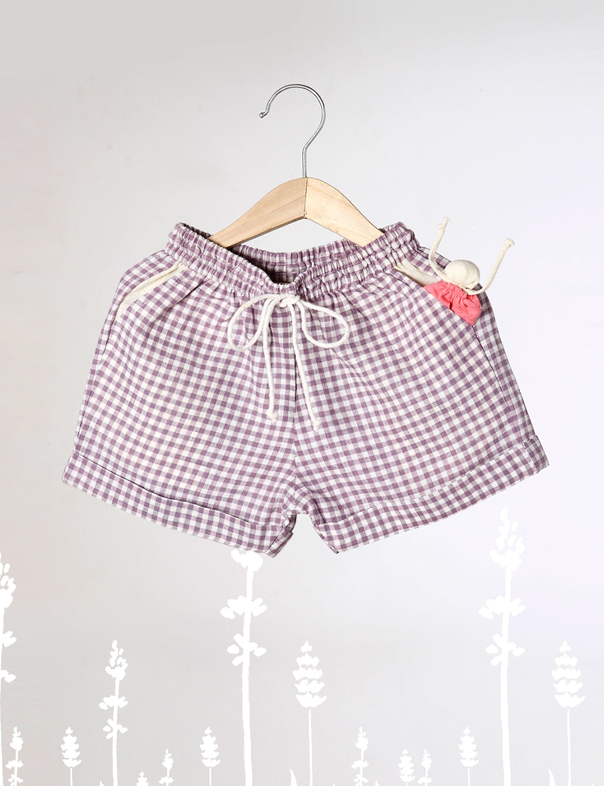 Let's Take More Naps - Lavender Checkered Unisex Shorts