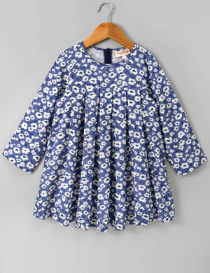 Full Sleeves Dress Floral Print for Girls