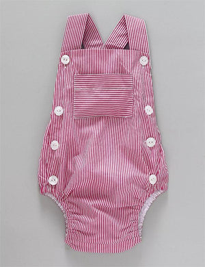 Striped Onesie in Pink and White for Kids