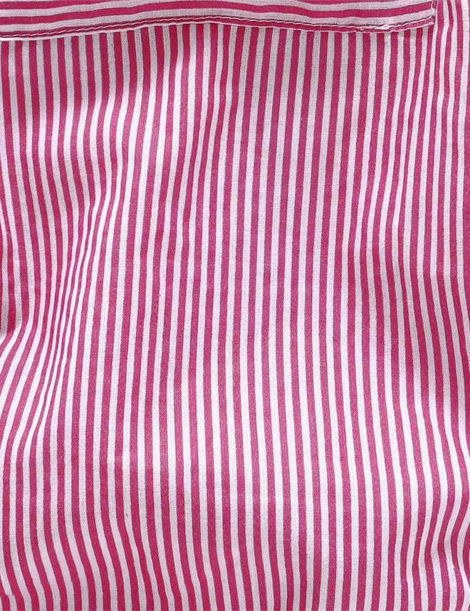 Striped Onesie in Pink and White