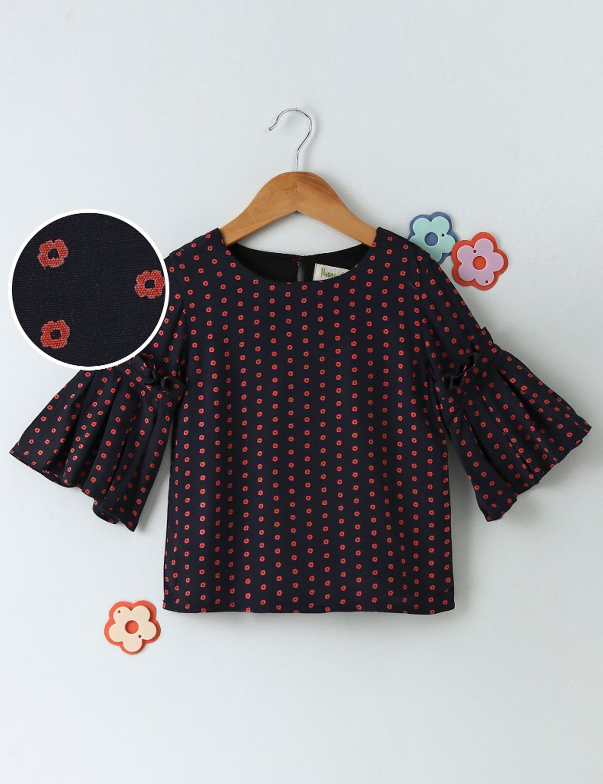 Top With Bell Sleeves For Girls