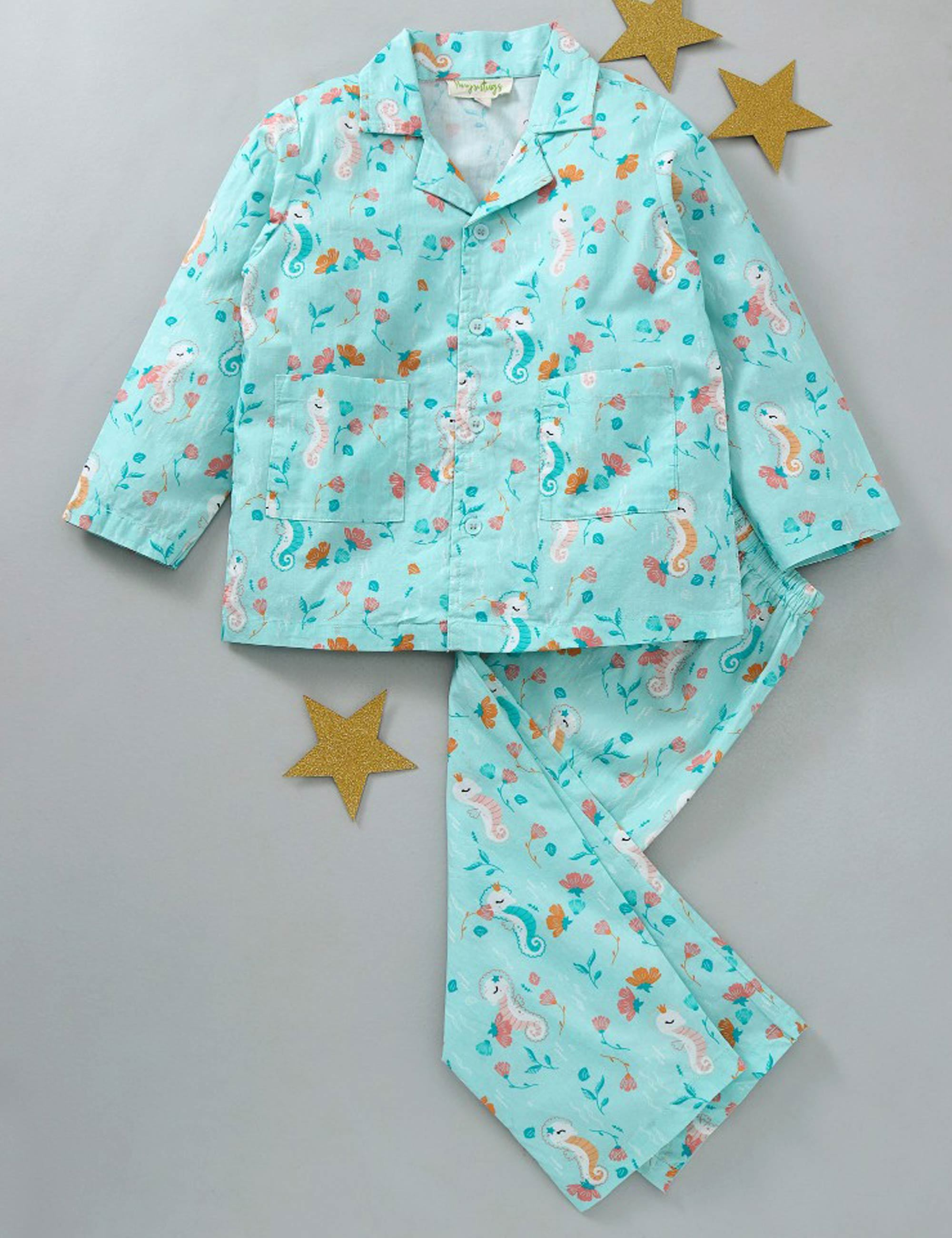 Sea Horse Print Nightsuit