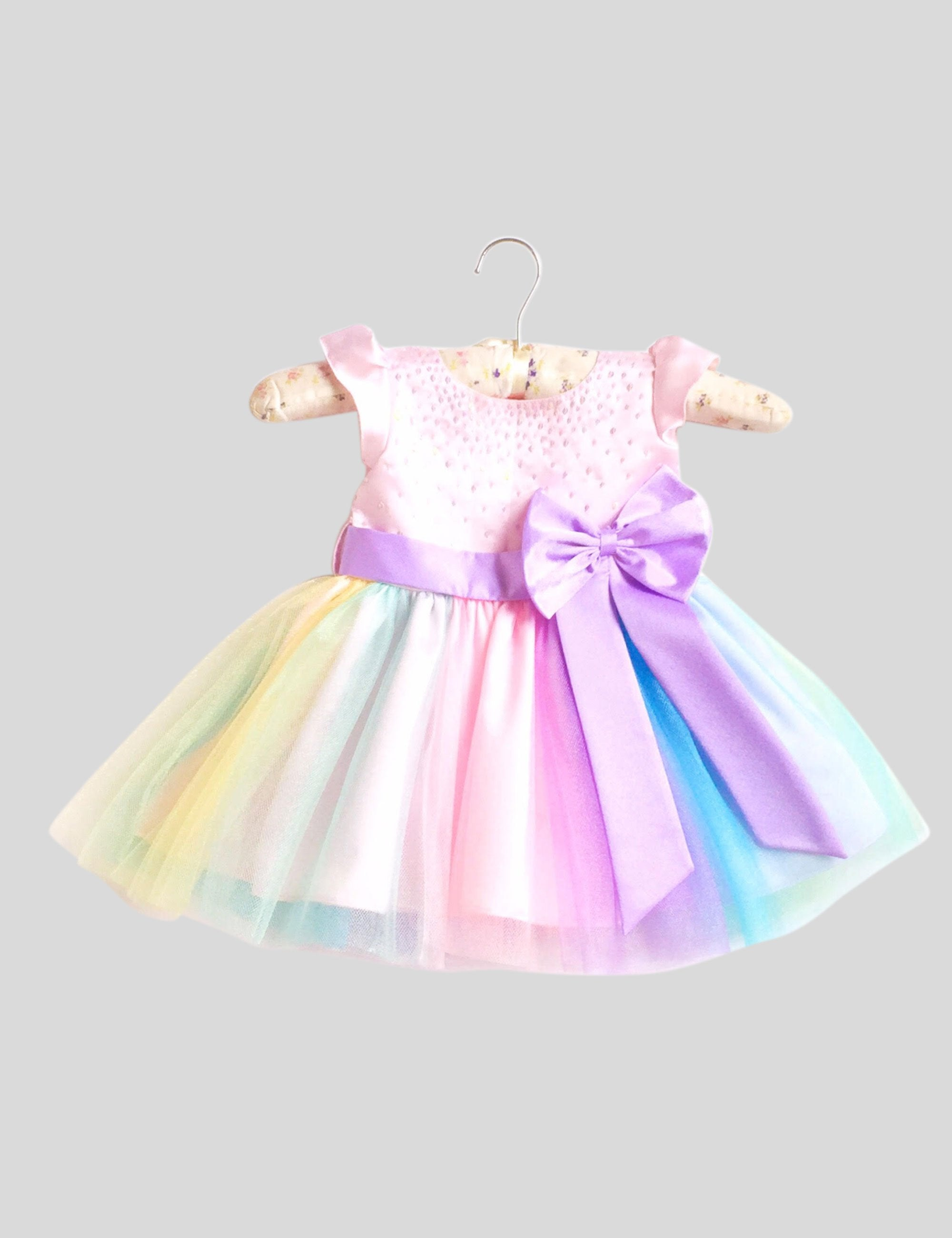 I Believe in Unicorns Dress in Multi-Colour for Girls