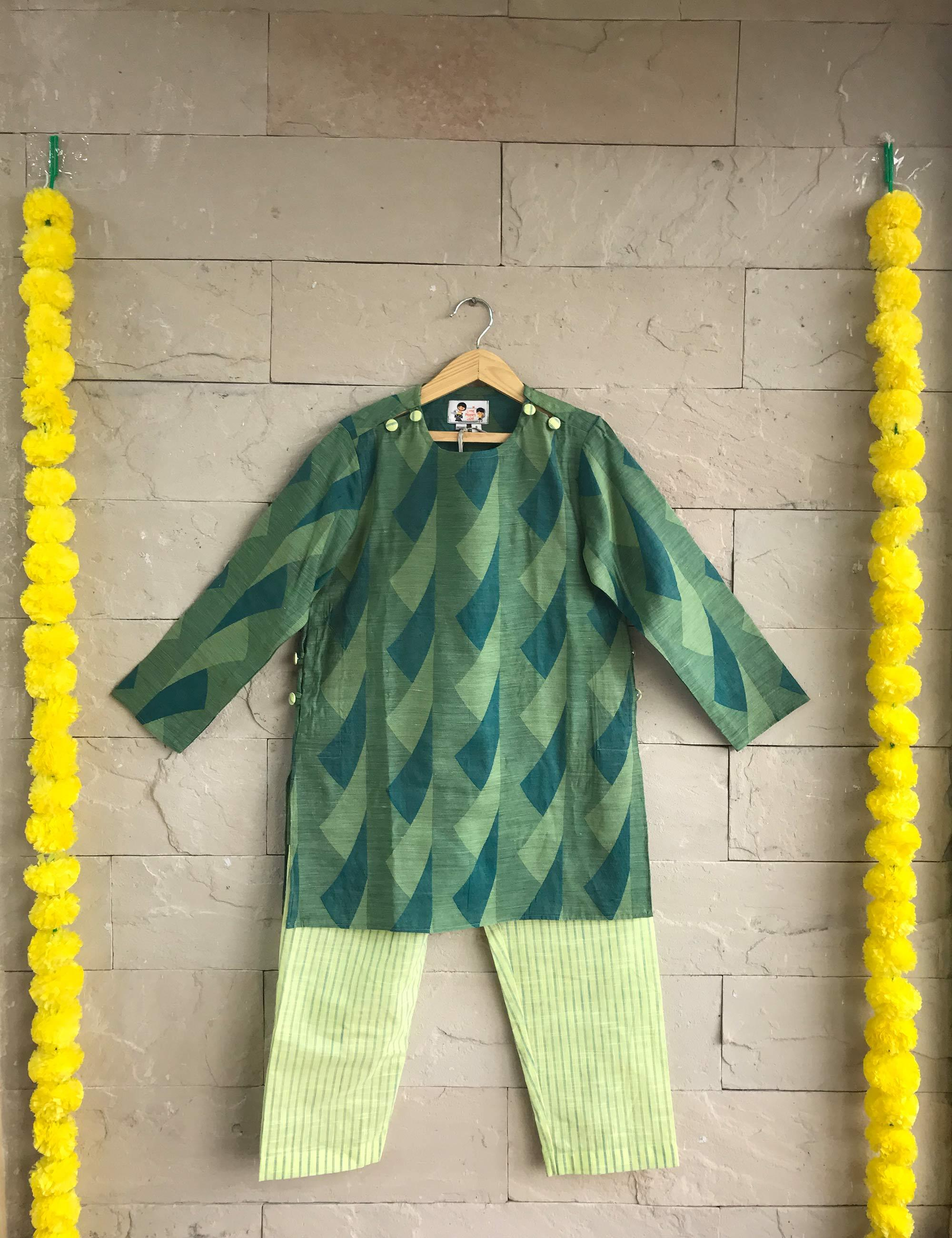 Chanderi Cotton Kurta Set for Boys