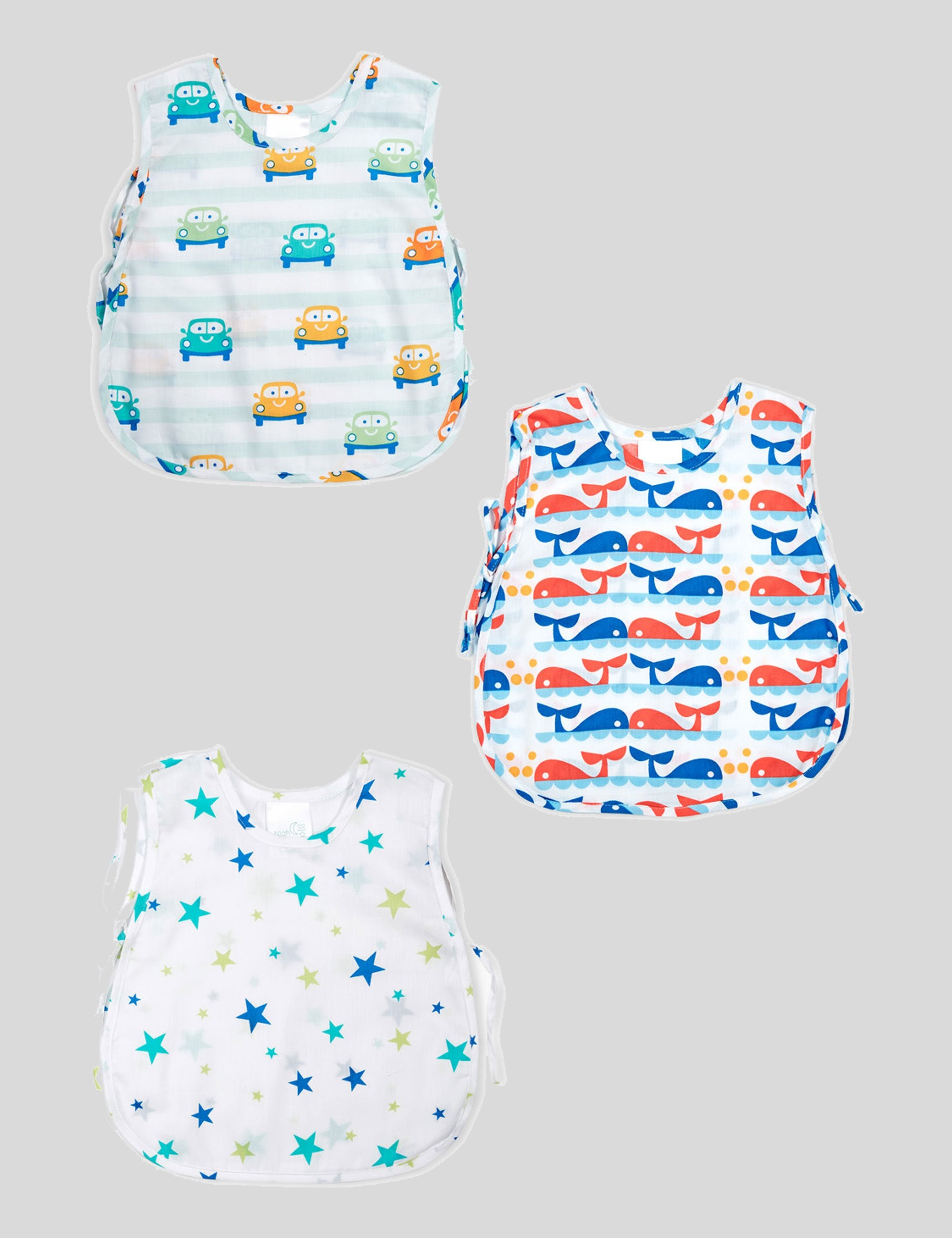 Printed Car- Dolphin-Sparkle Jhablas in Set Of 3