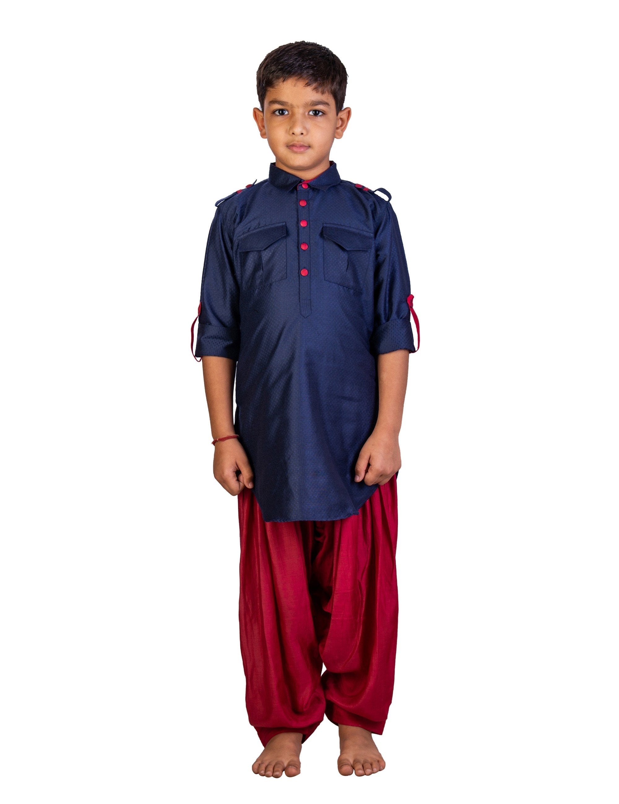 Navy kurta pyajama set